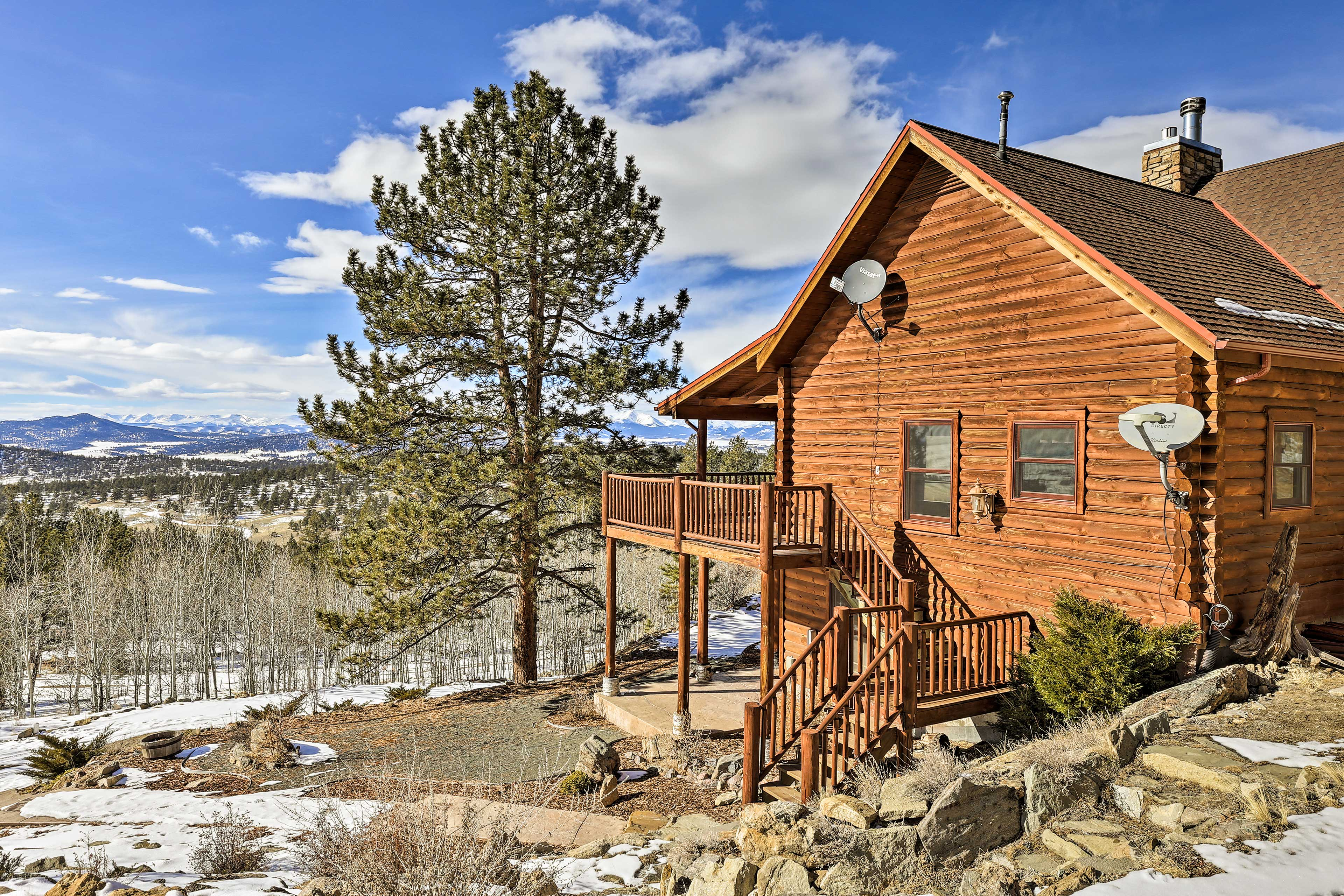 This cabin provides the perfect mountain escape.