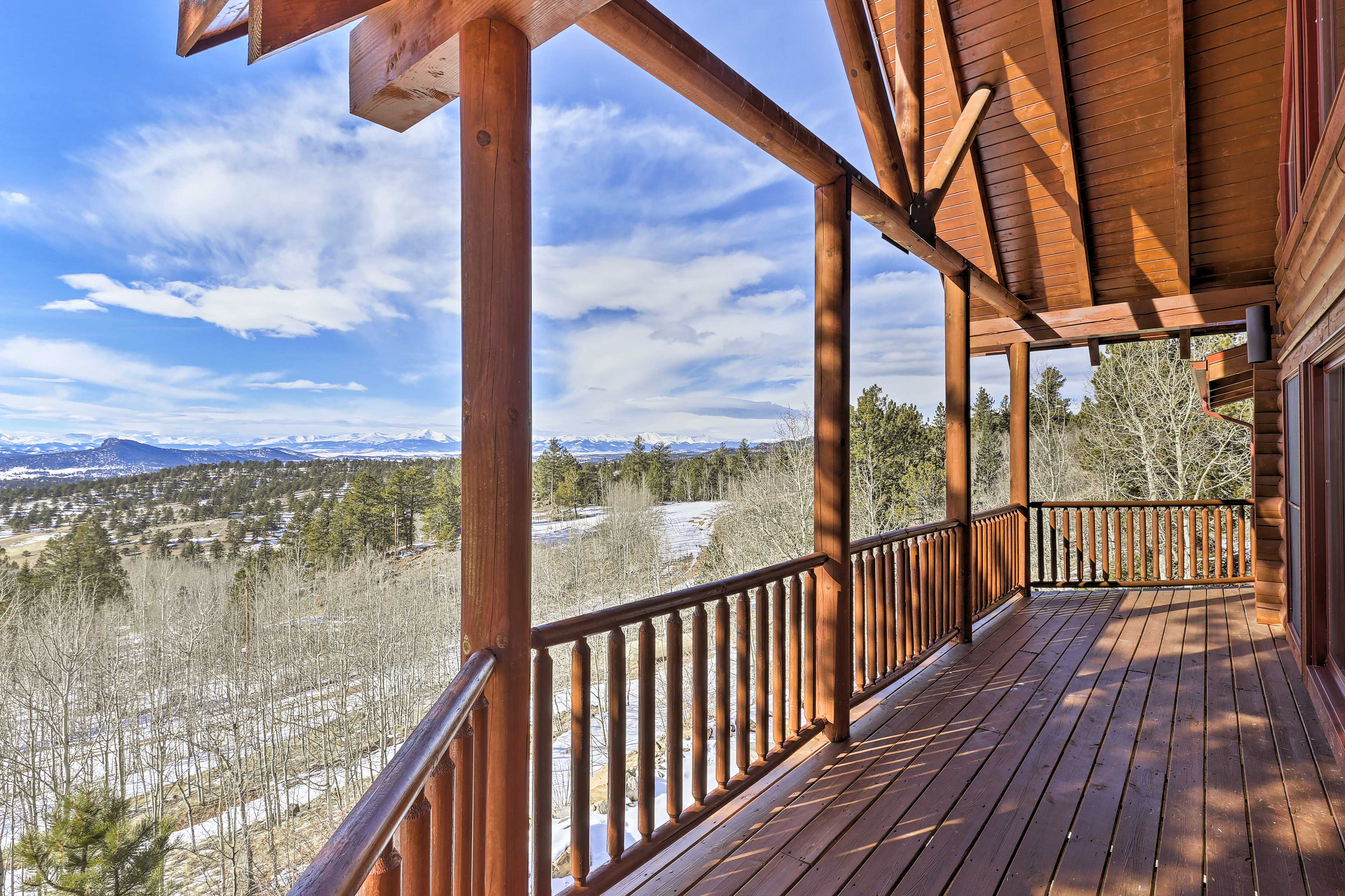 The deck provides breathtaking views.