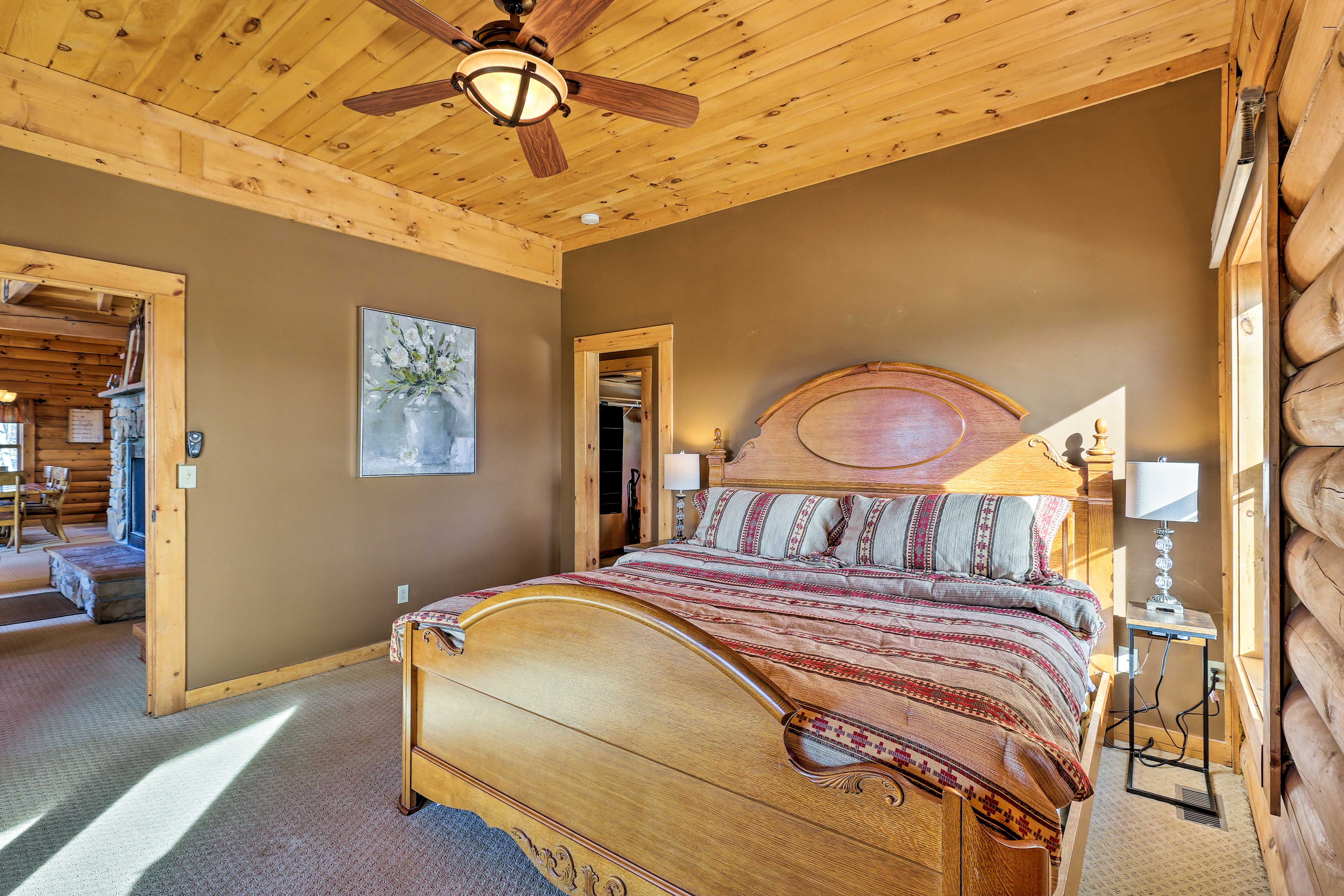 Sleep soundly in this cozy room.