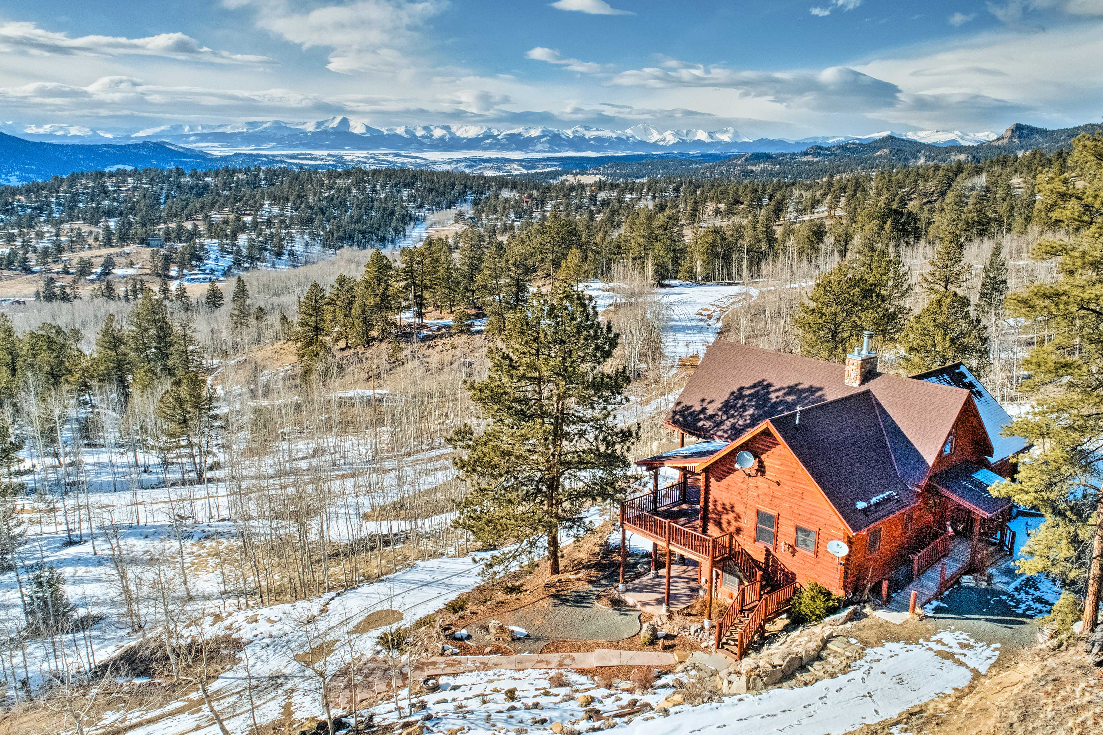 The property offers stunning views year-round.