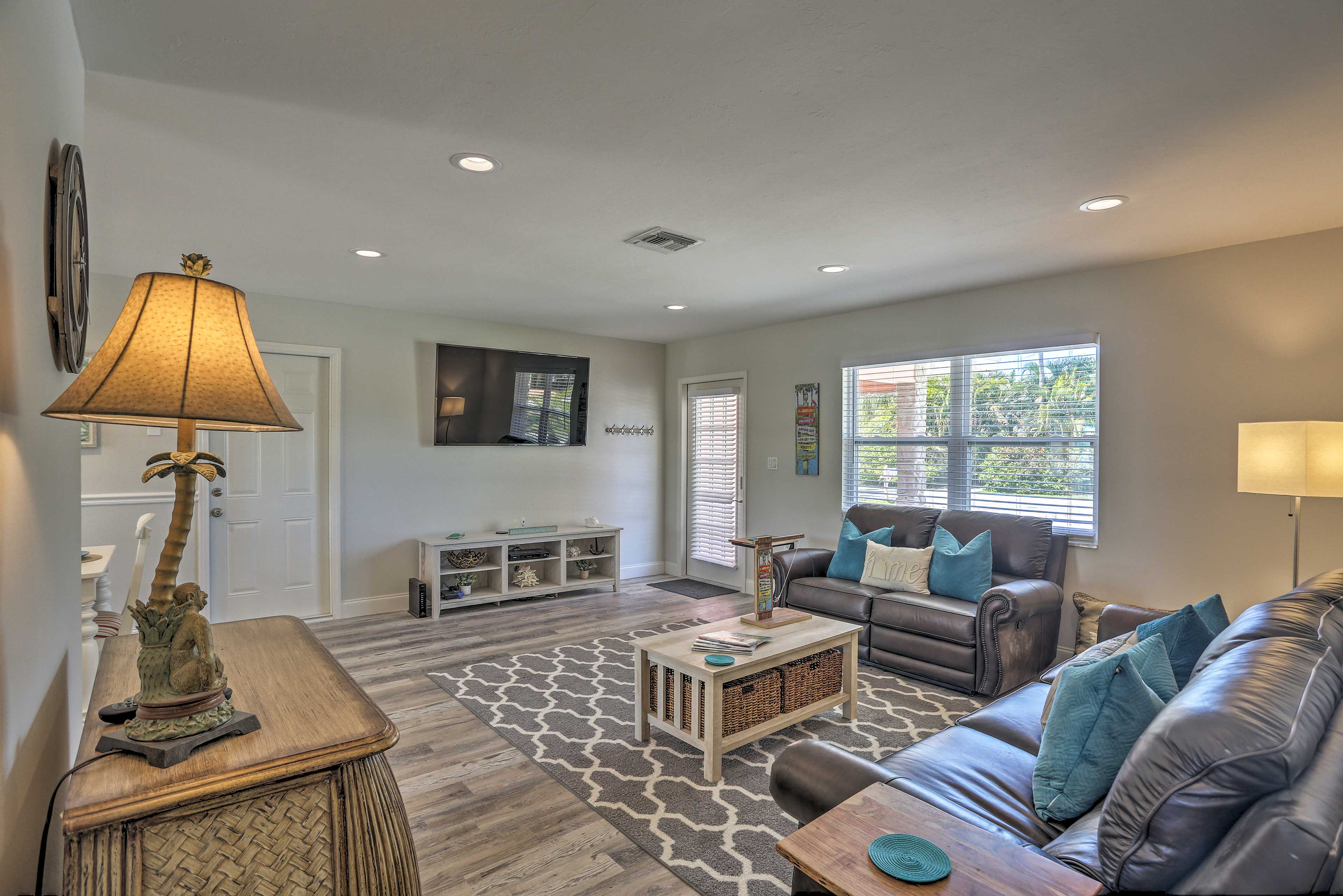 This 1,200-square foot home features 3 bedroom and 2 bathrooms.