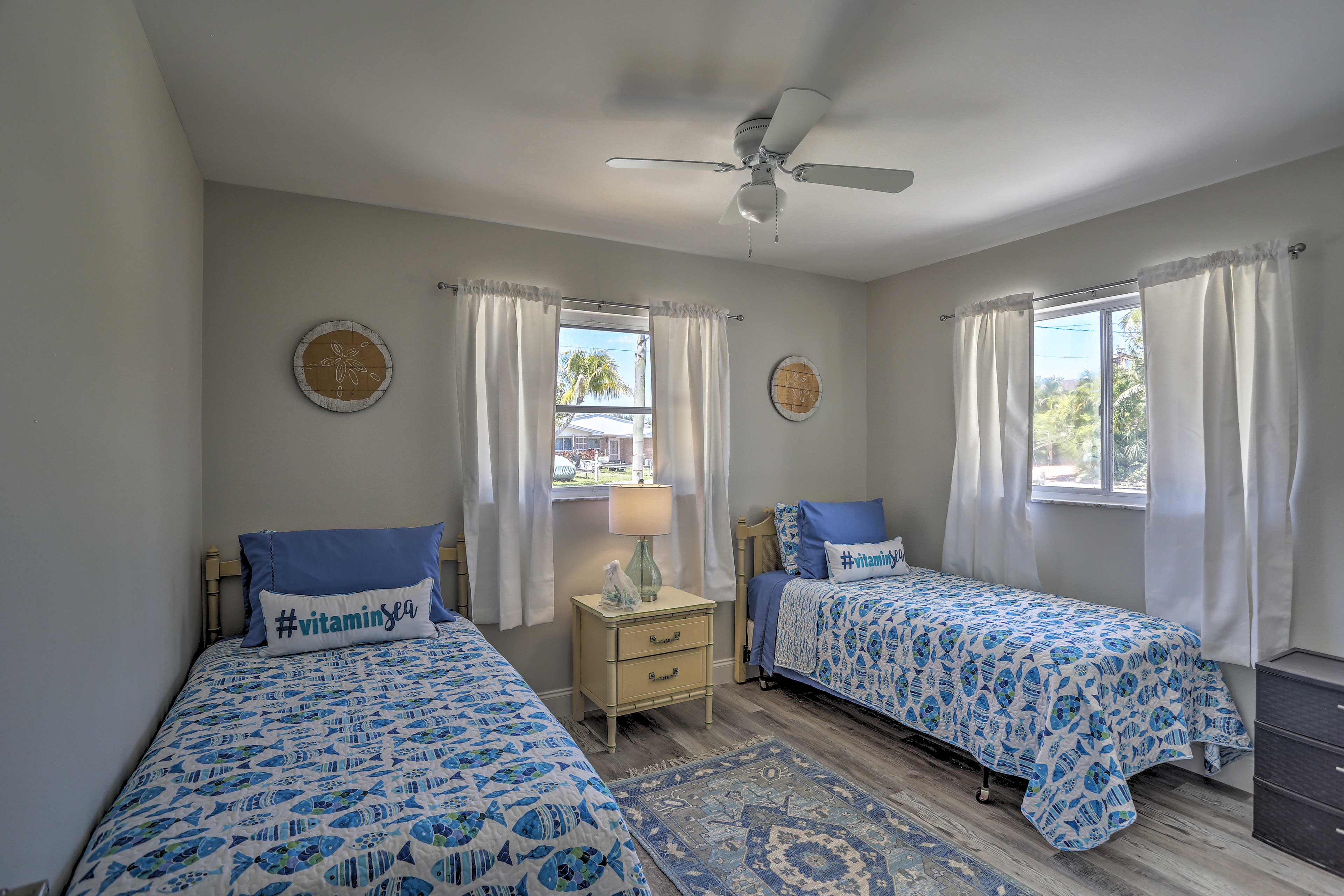 Kids will love sharing this last twin bedroom.