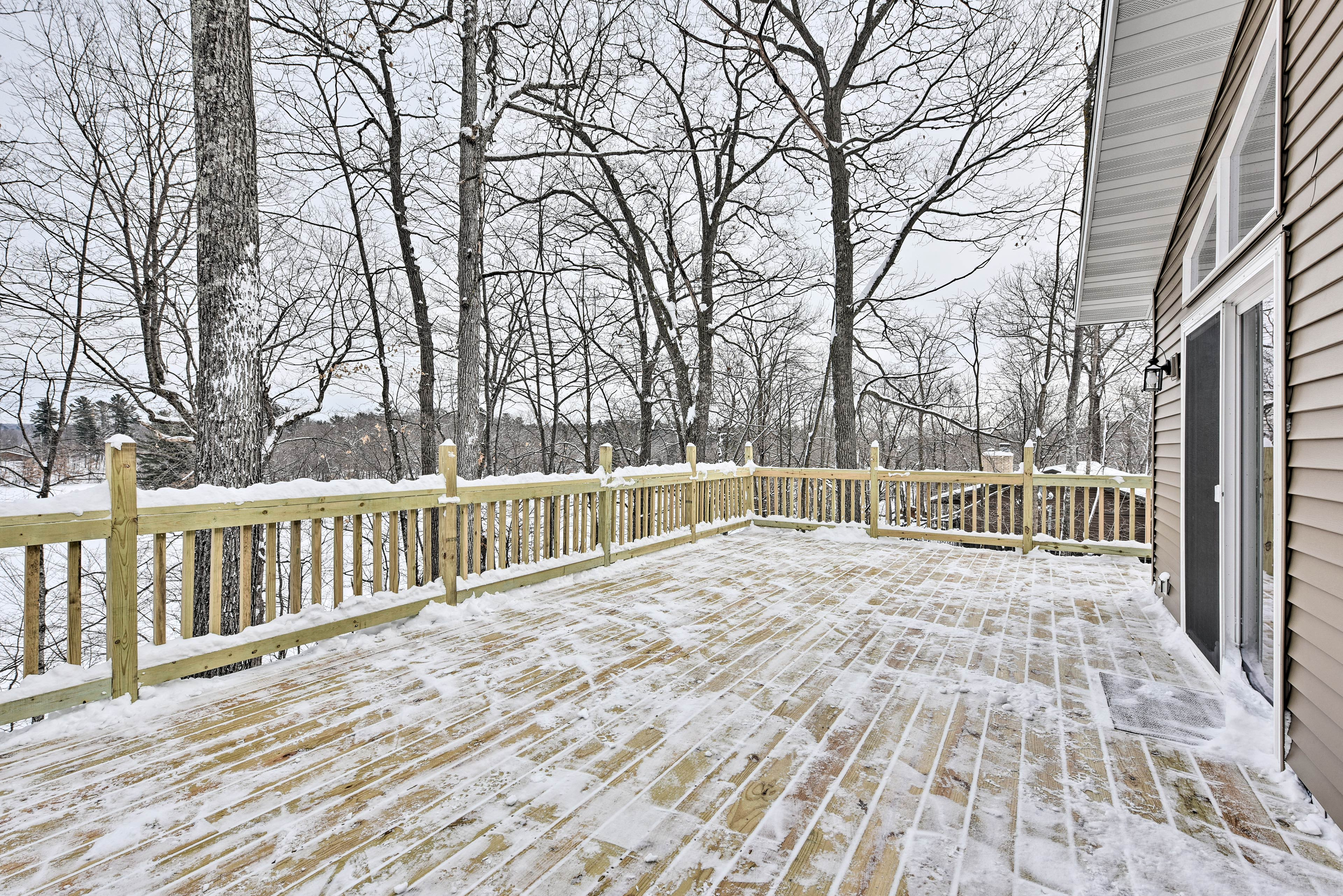 You'll love the views of Red Cedar Lake from the spacious deck.