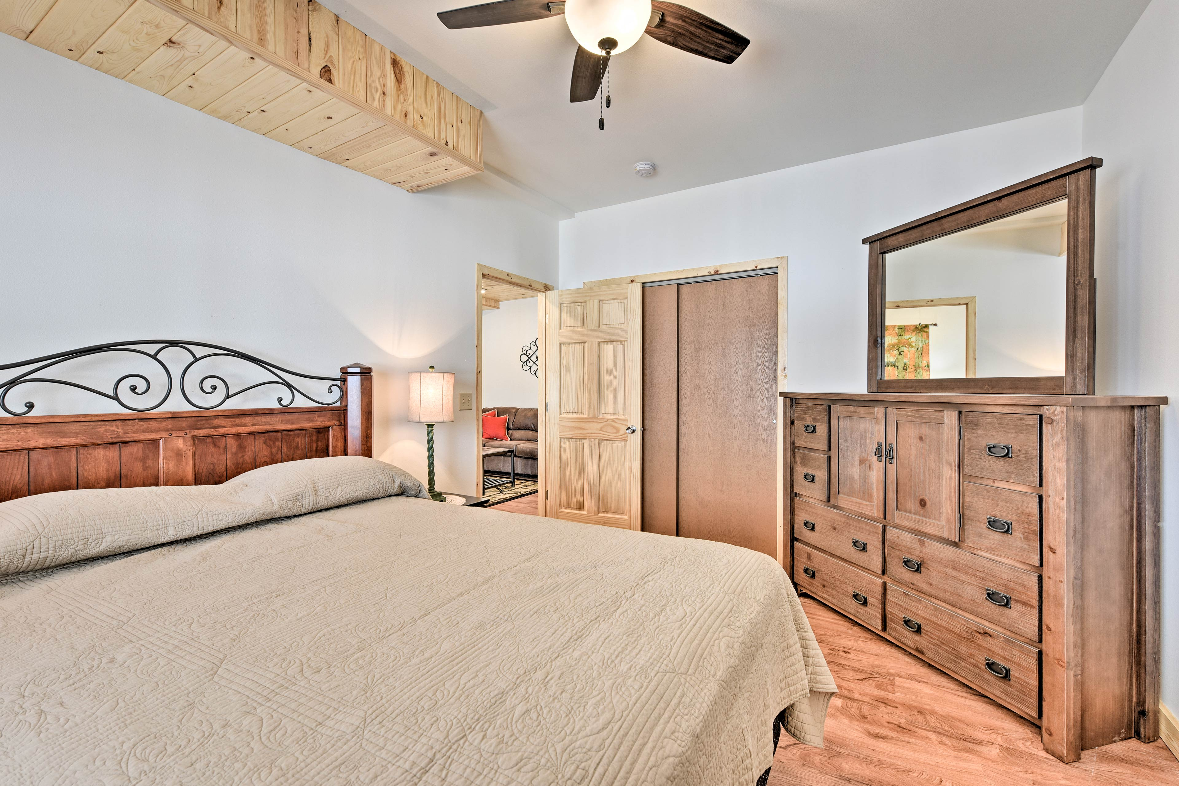 The final bedroom offers a queen bed.