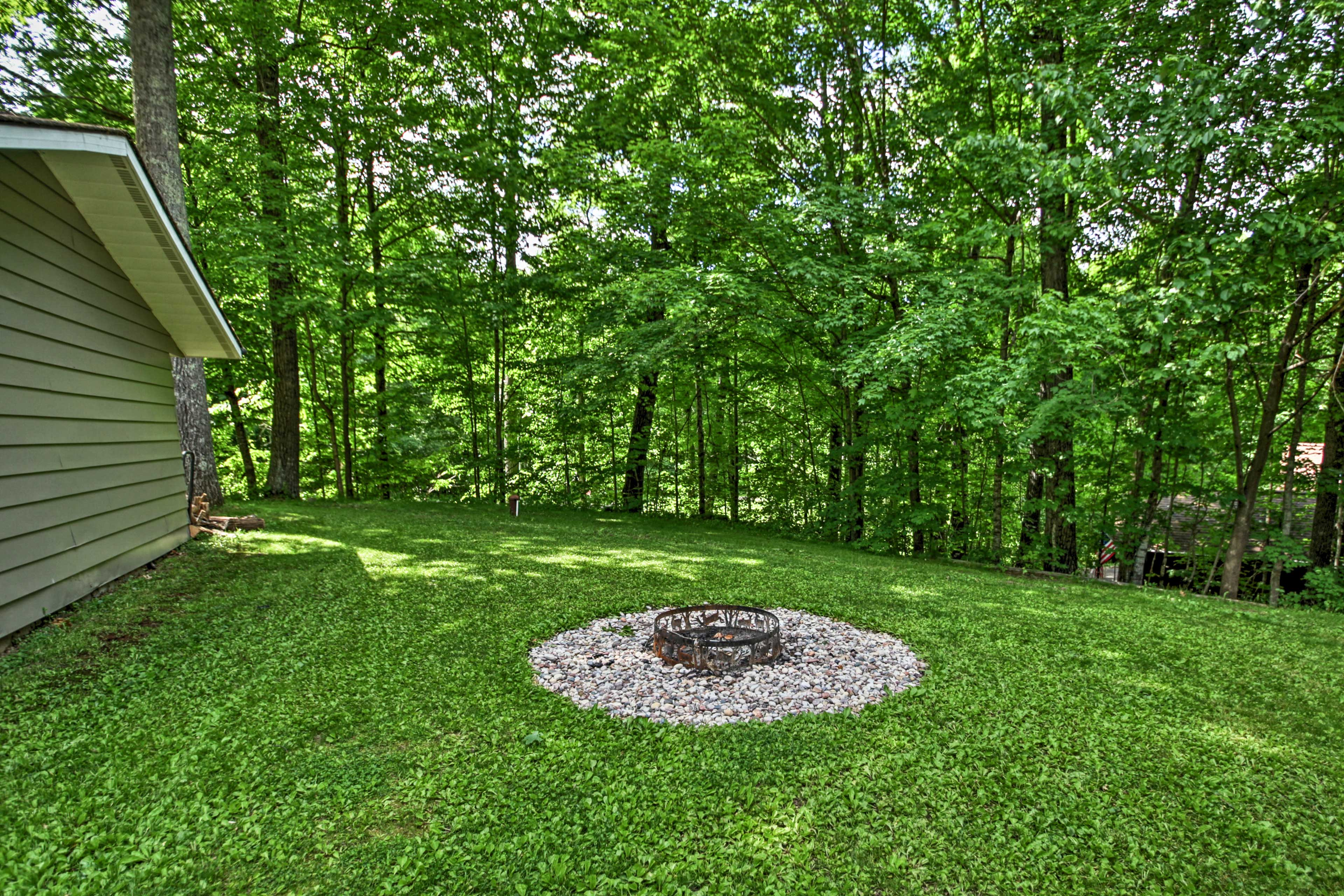 In the warmer months, you can share stories around the shared fire pit.