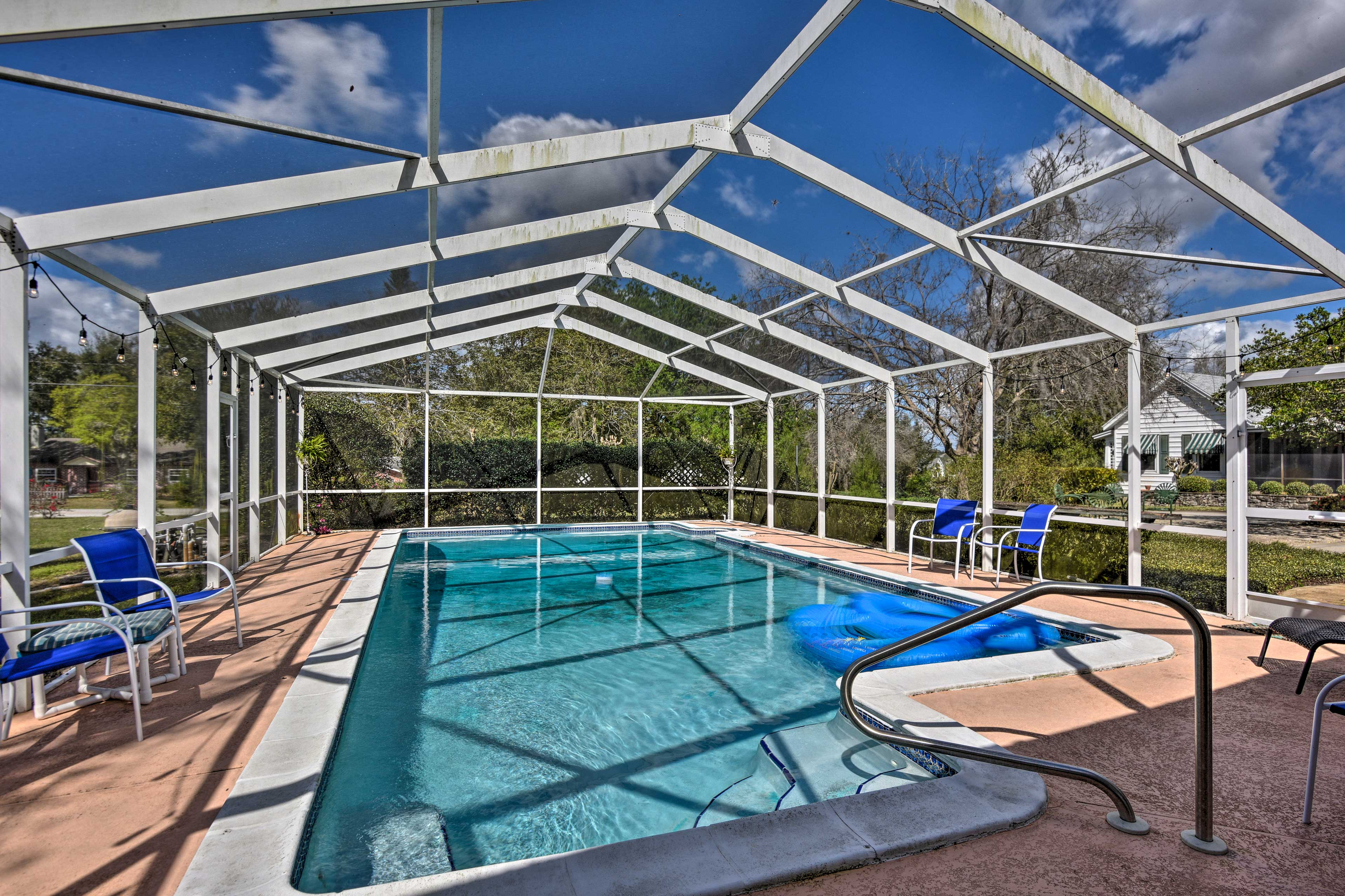 Take a dip in the private pool!