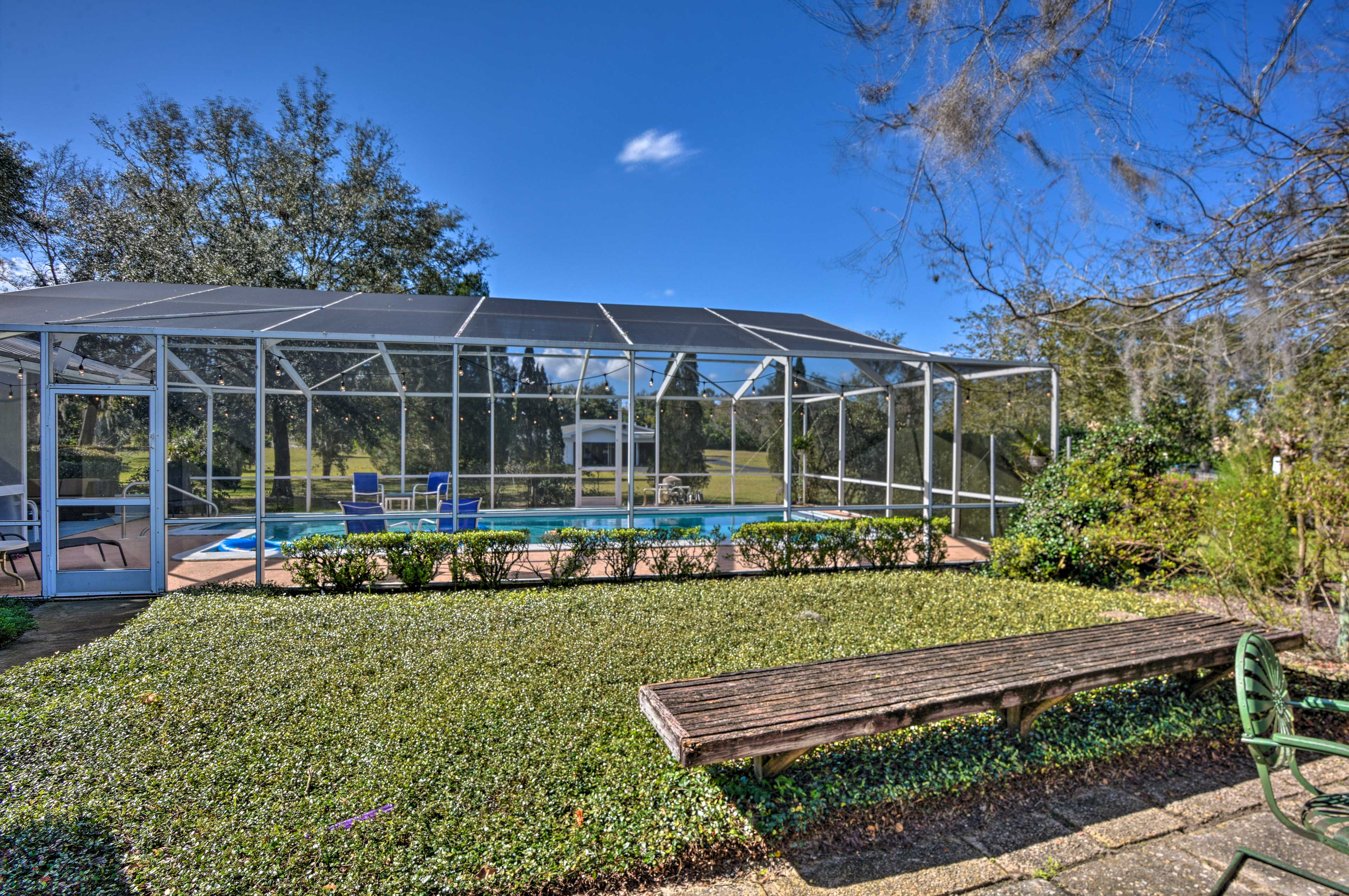 The screened-in lanai ensures you're never bothered by pesky guests.