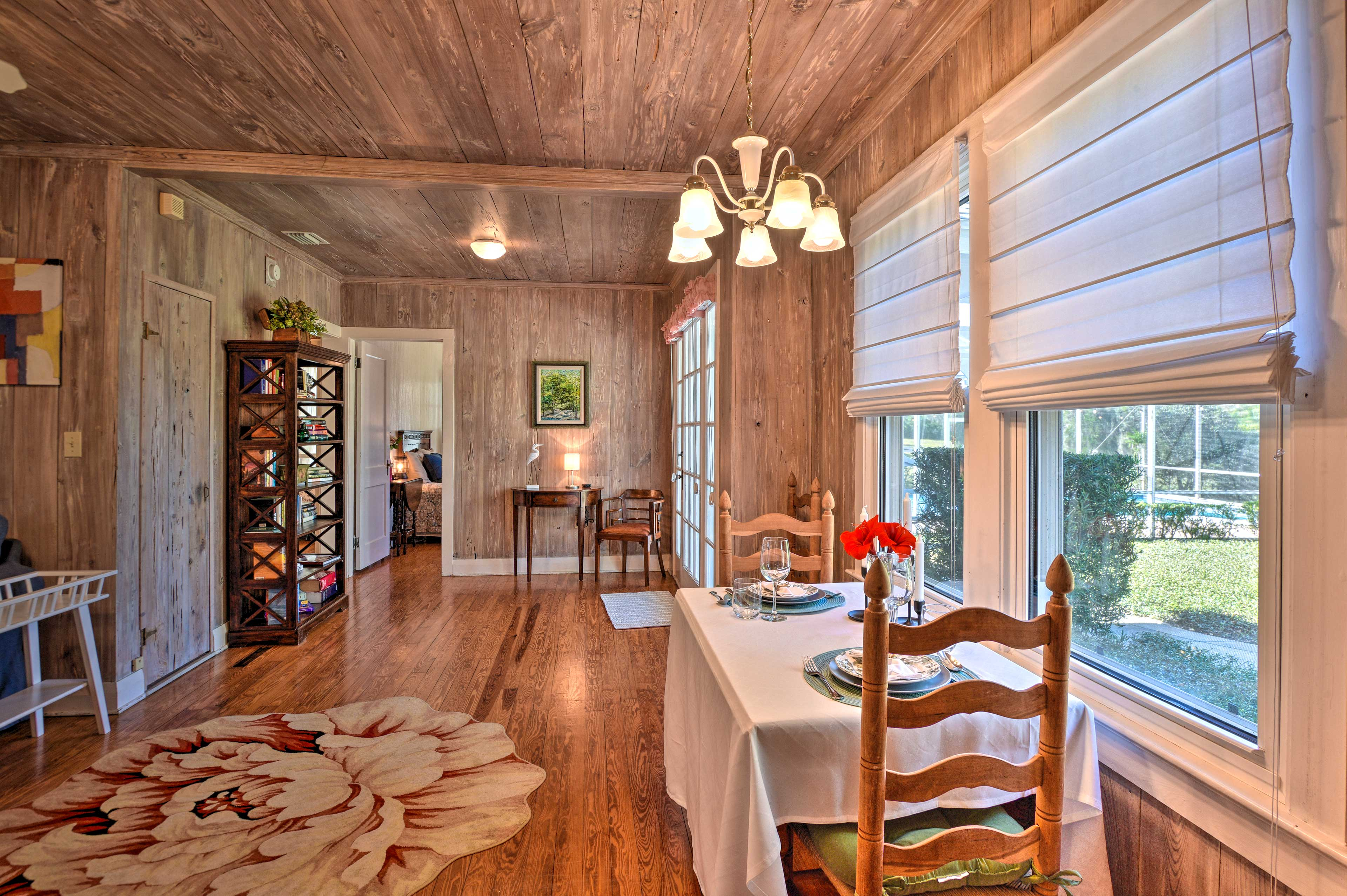 Follow the hardwood floors into the living area.