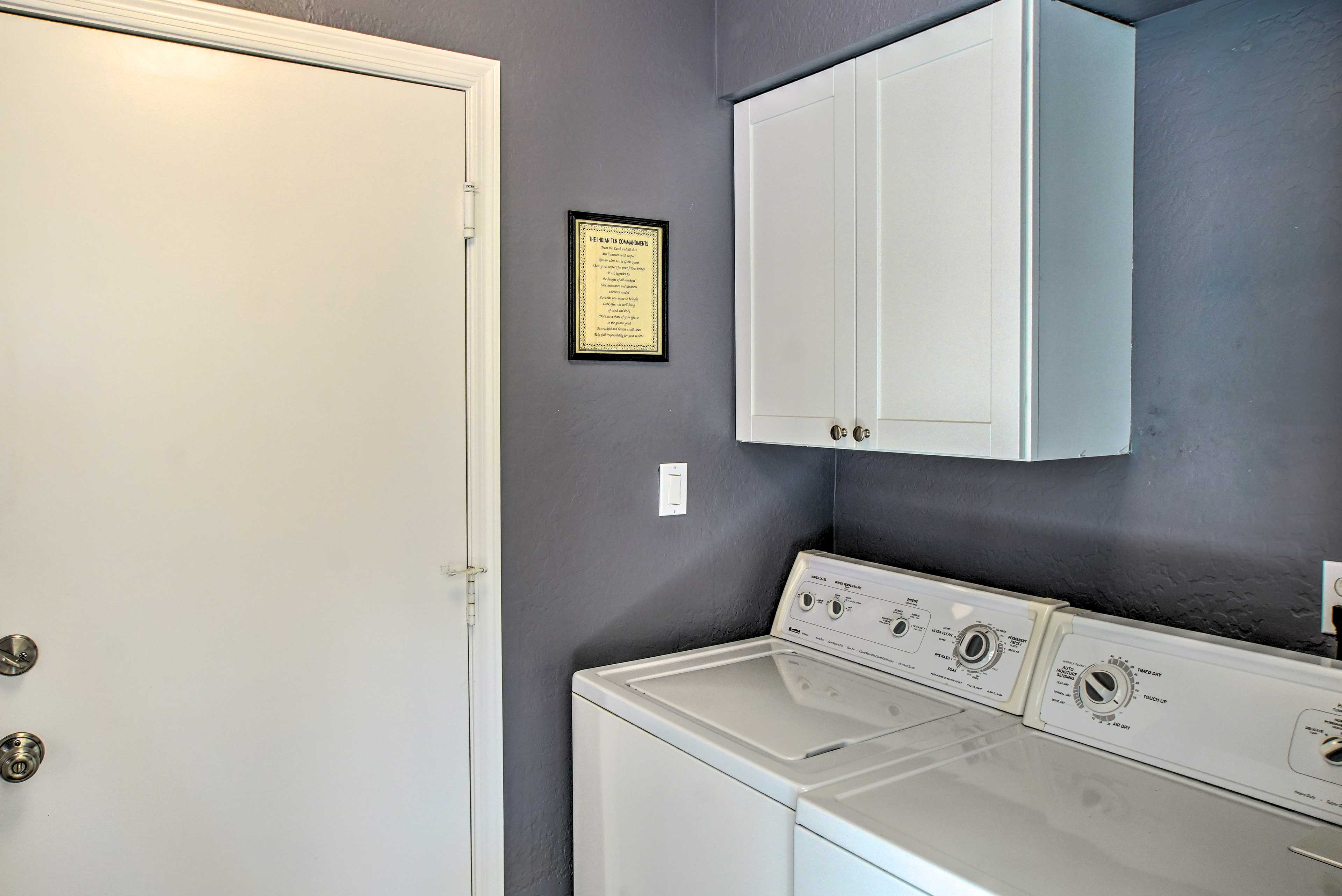 Keep everything fresh and clean with the in-unit washer and dryer.