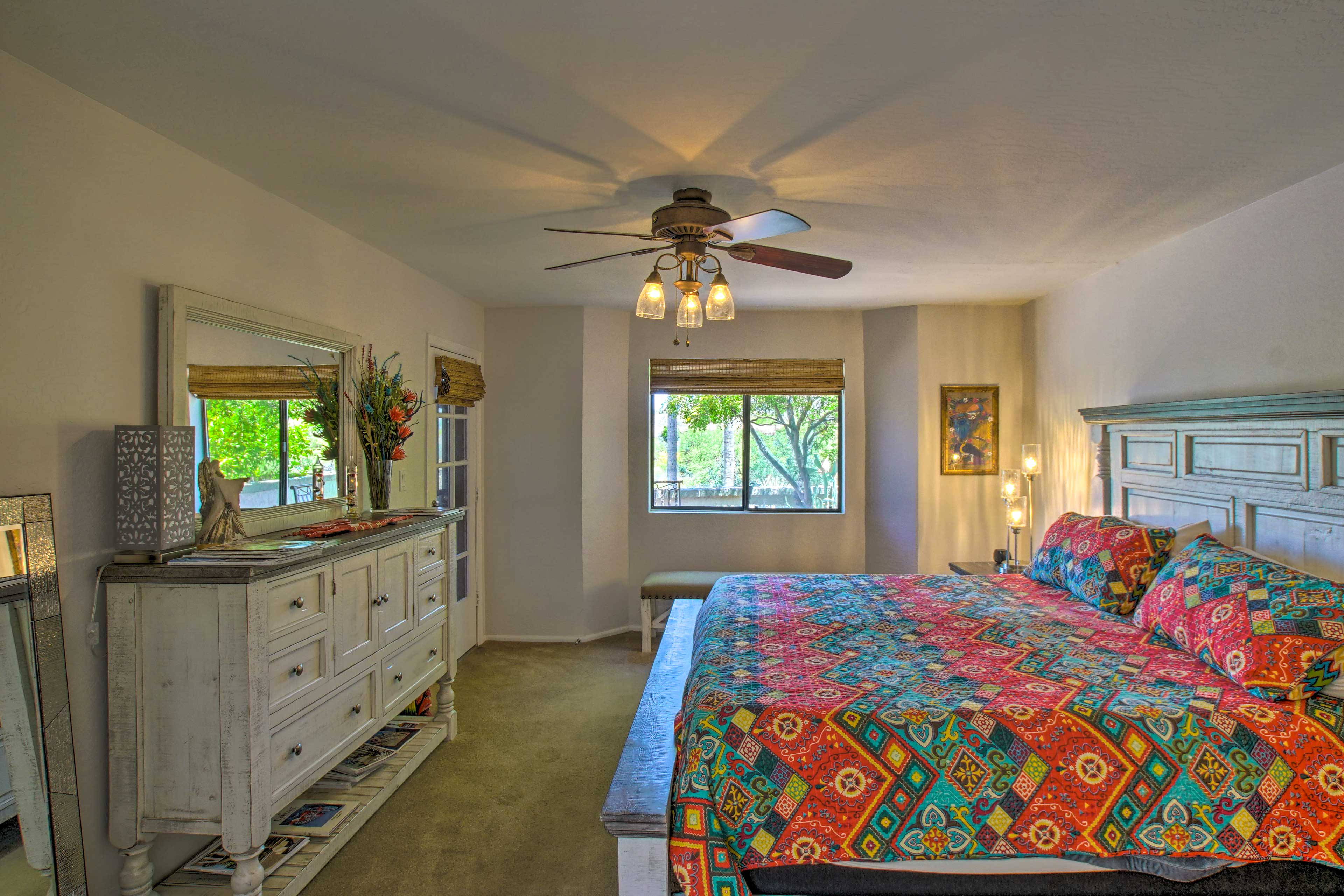 The second full bedroom also features a California King bed!