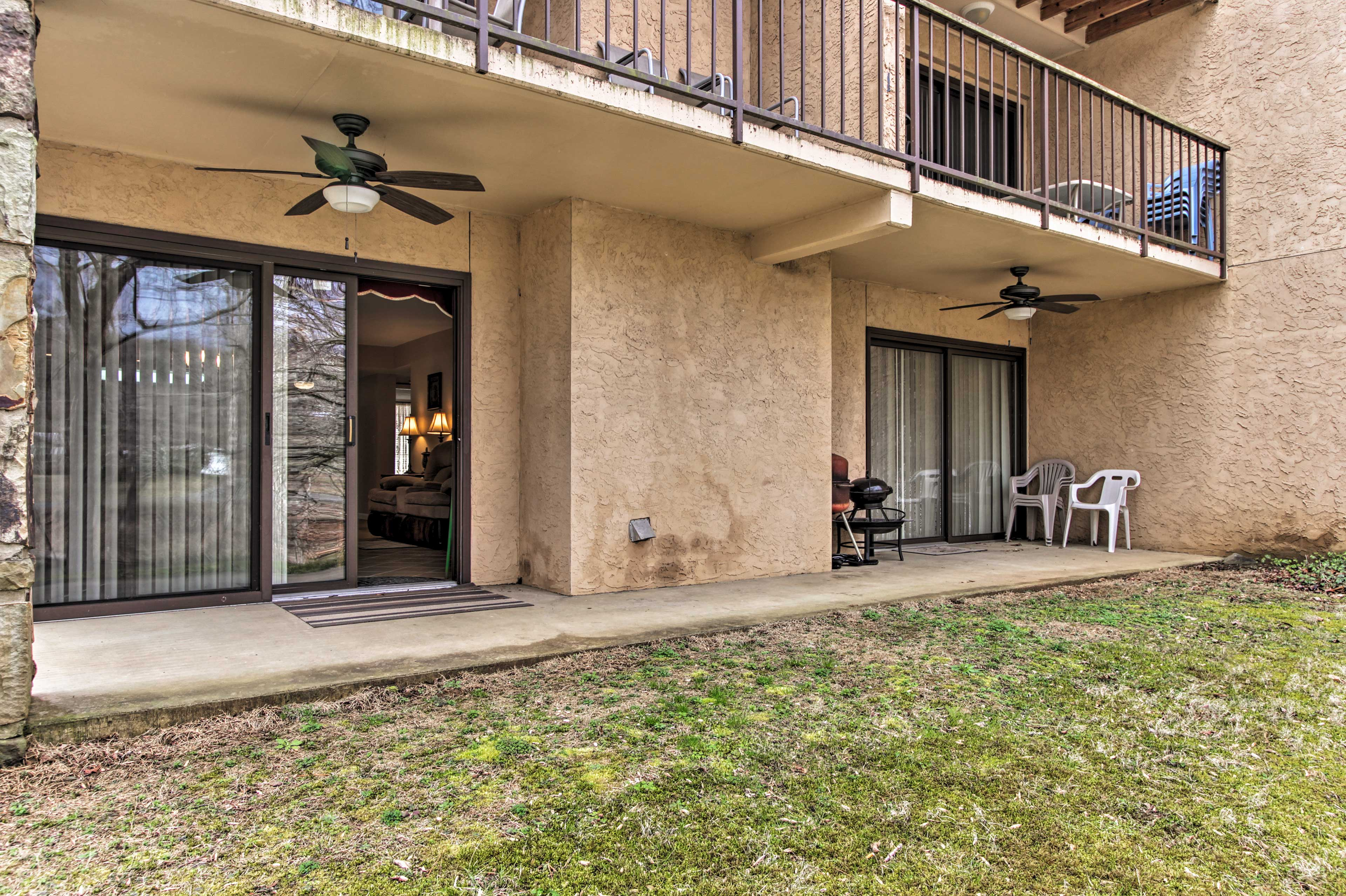 Step outside to the furnished patio.