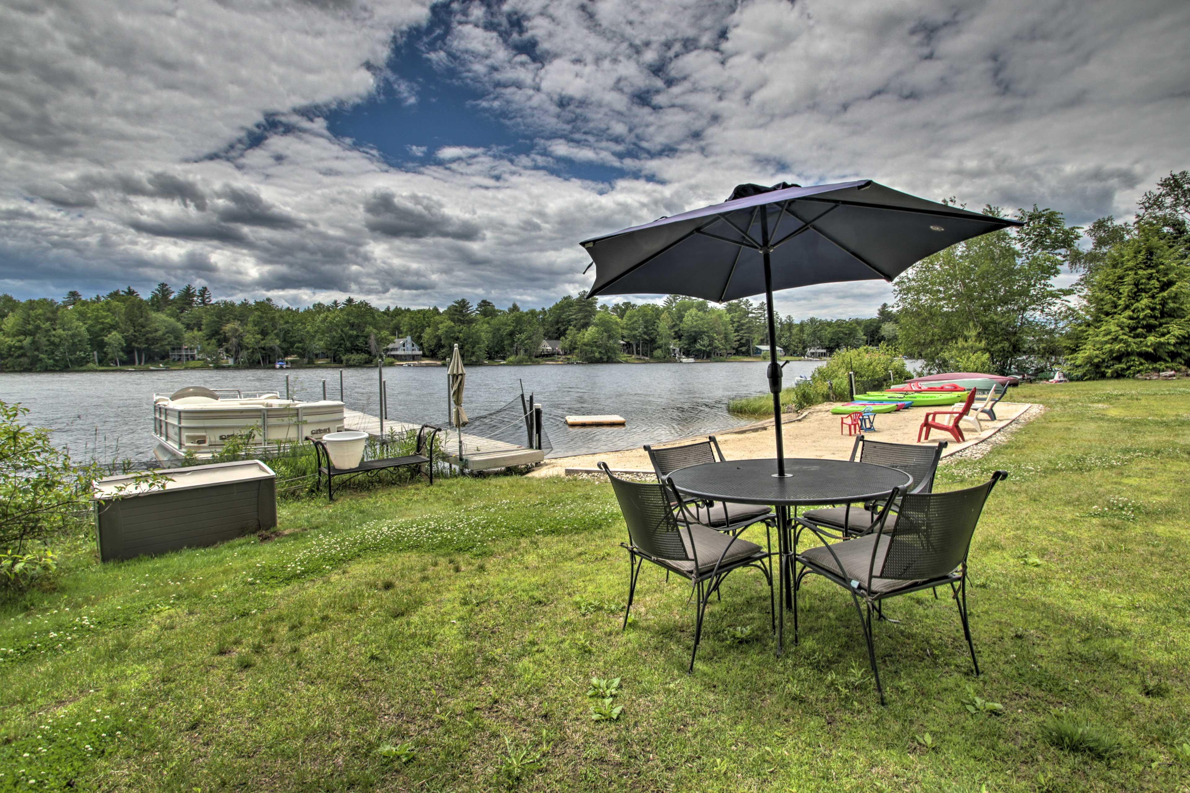 A lakeside getaway awaits at this Barnstead vacation rental home!