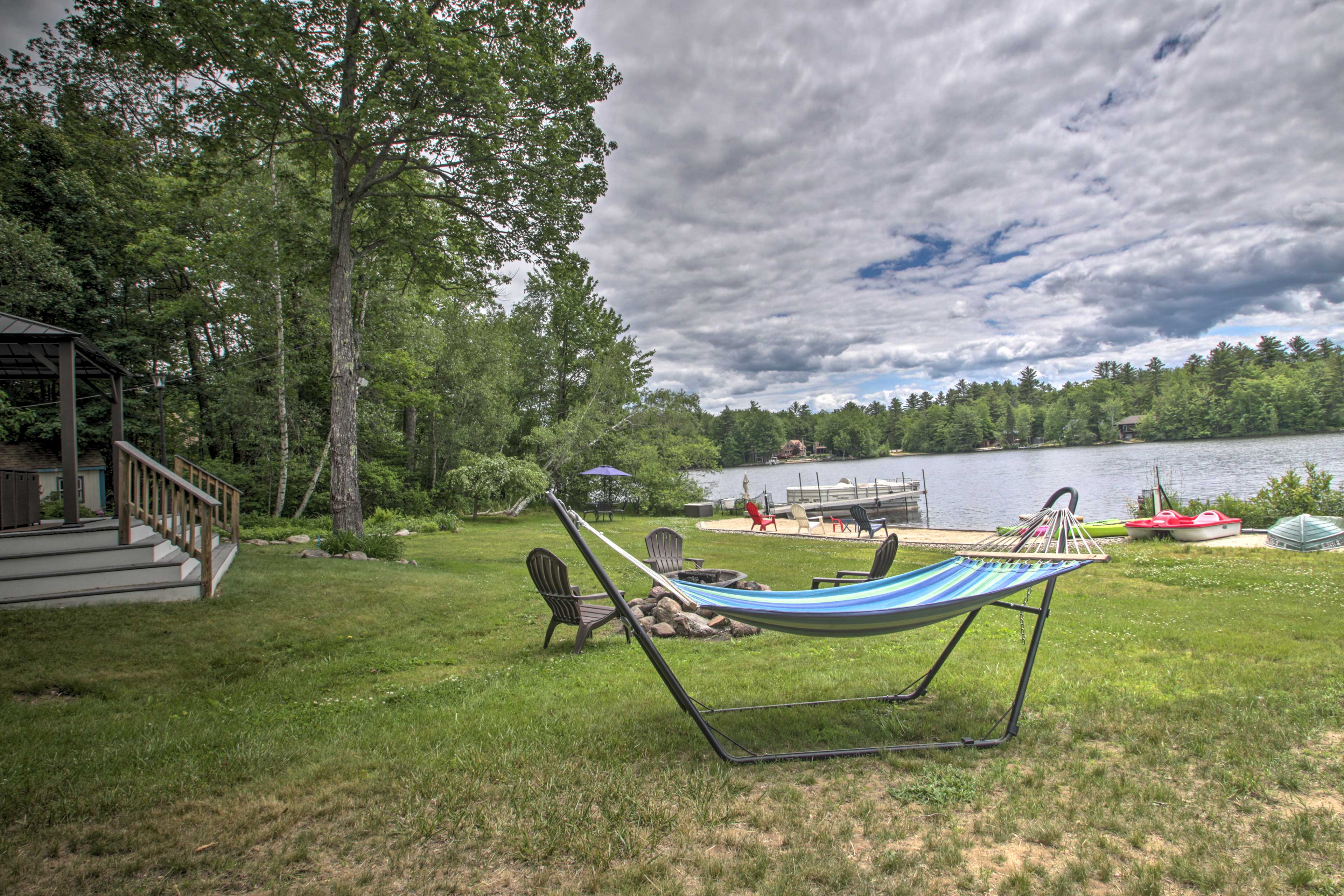 Sway the days away in the hammock.