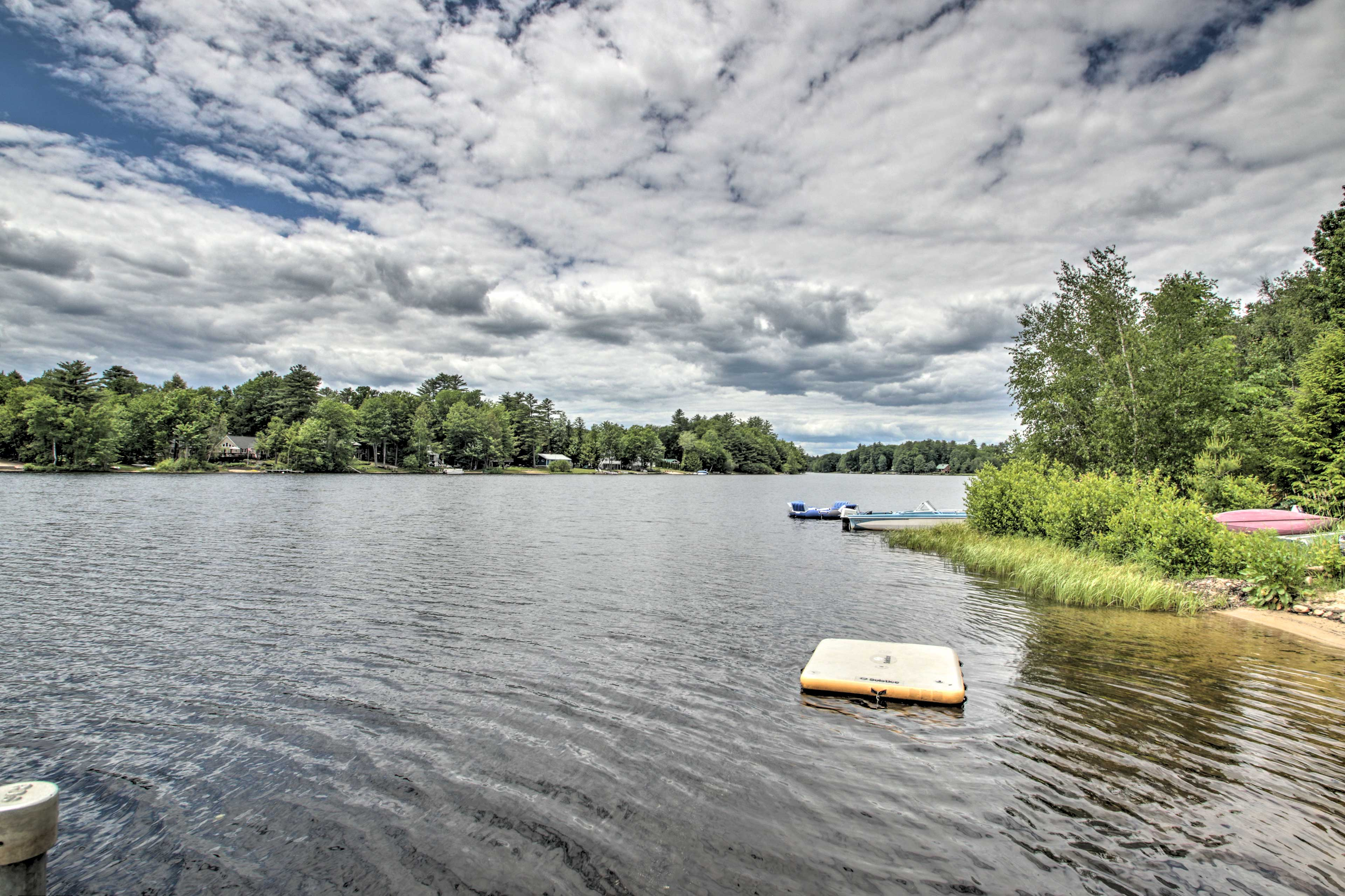 Spend summer days swimming right off the private dock!