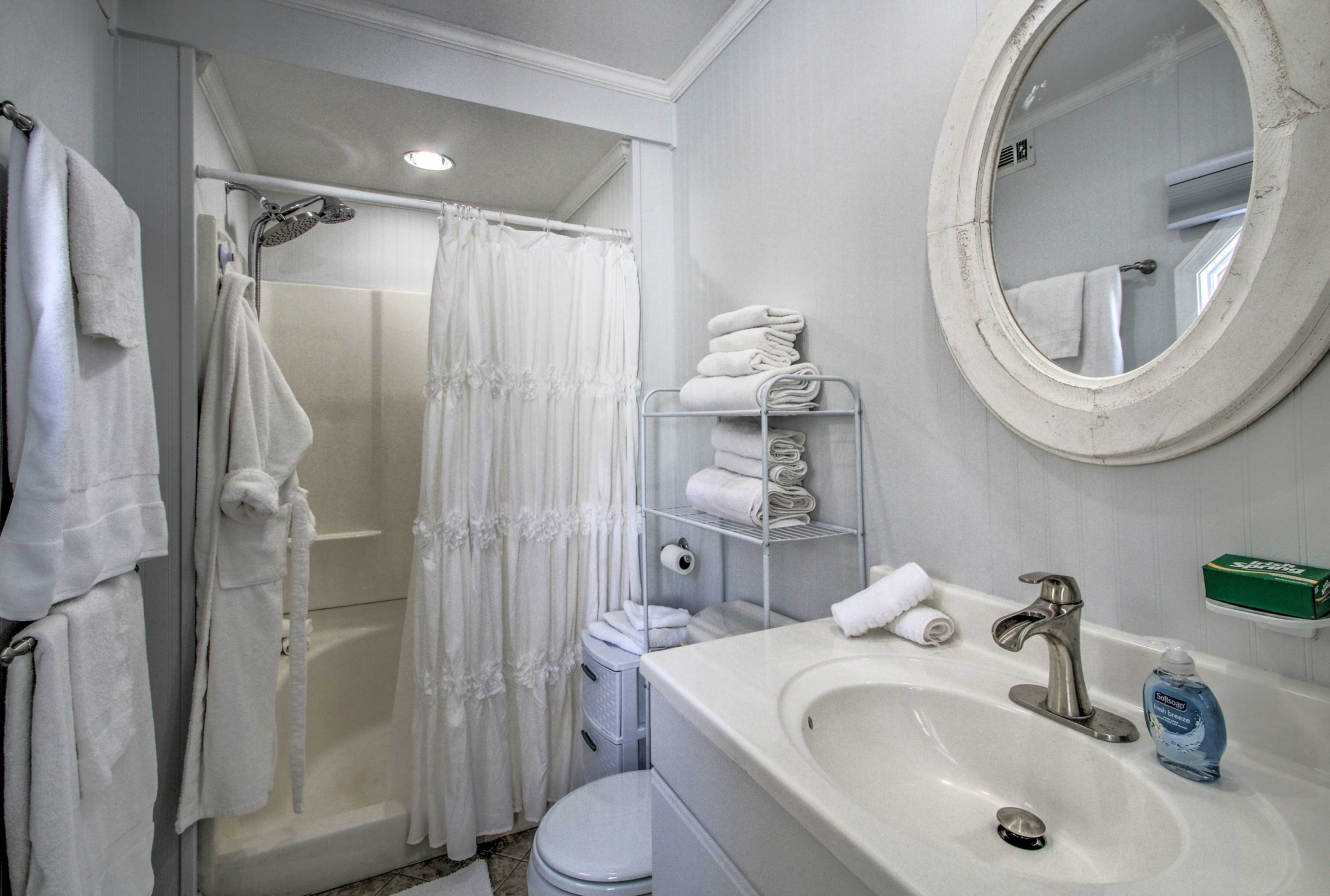 Enjoy a hot shower and then curl up in a fluffy robe.