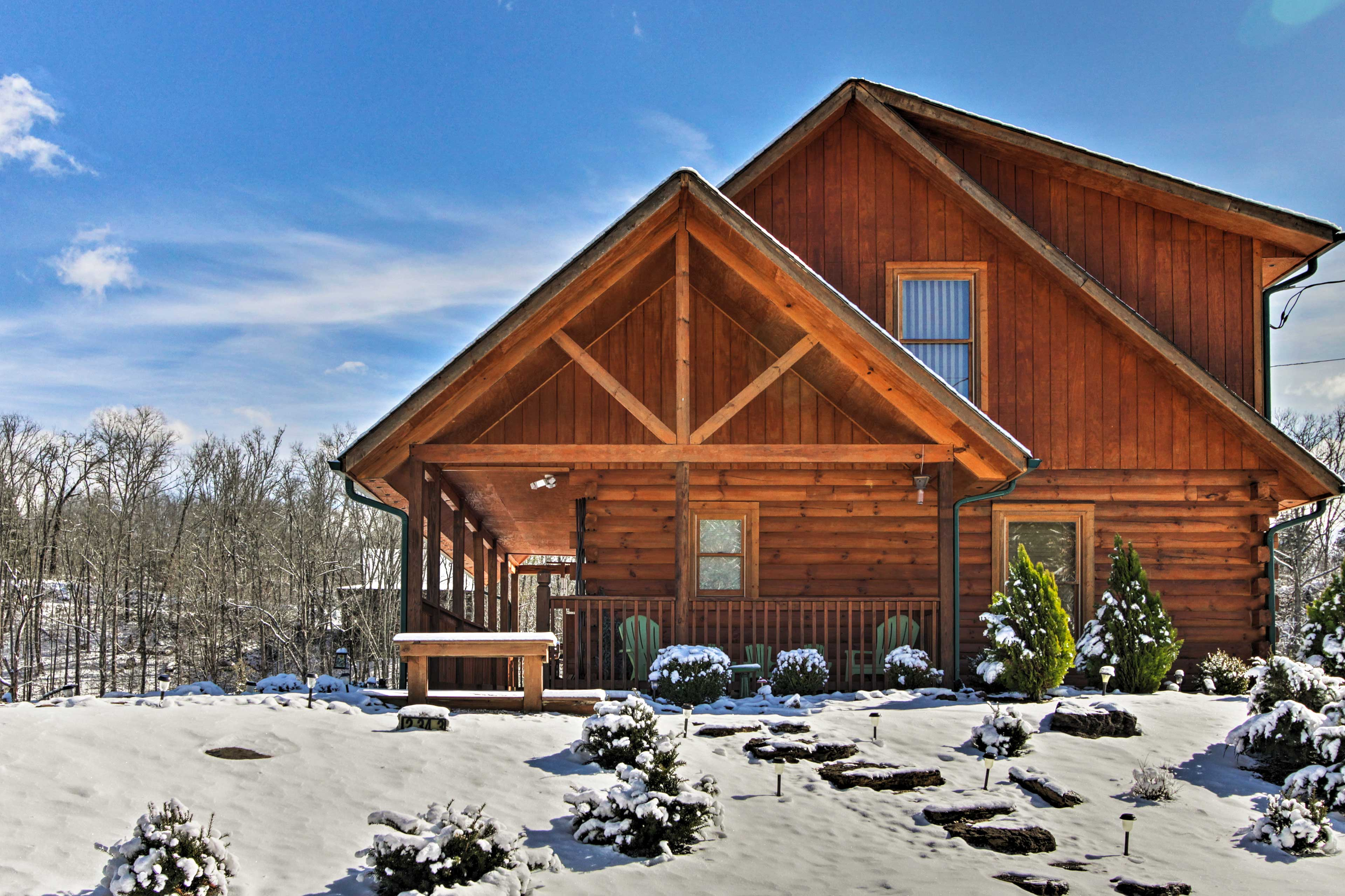 Discover peace and relaxation at this 2-bedroom, 2-bath Sevierville cabin!