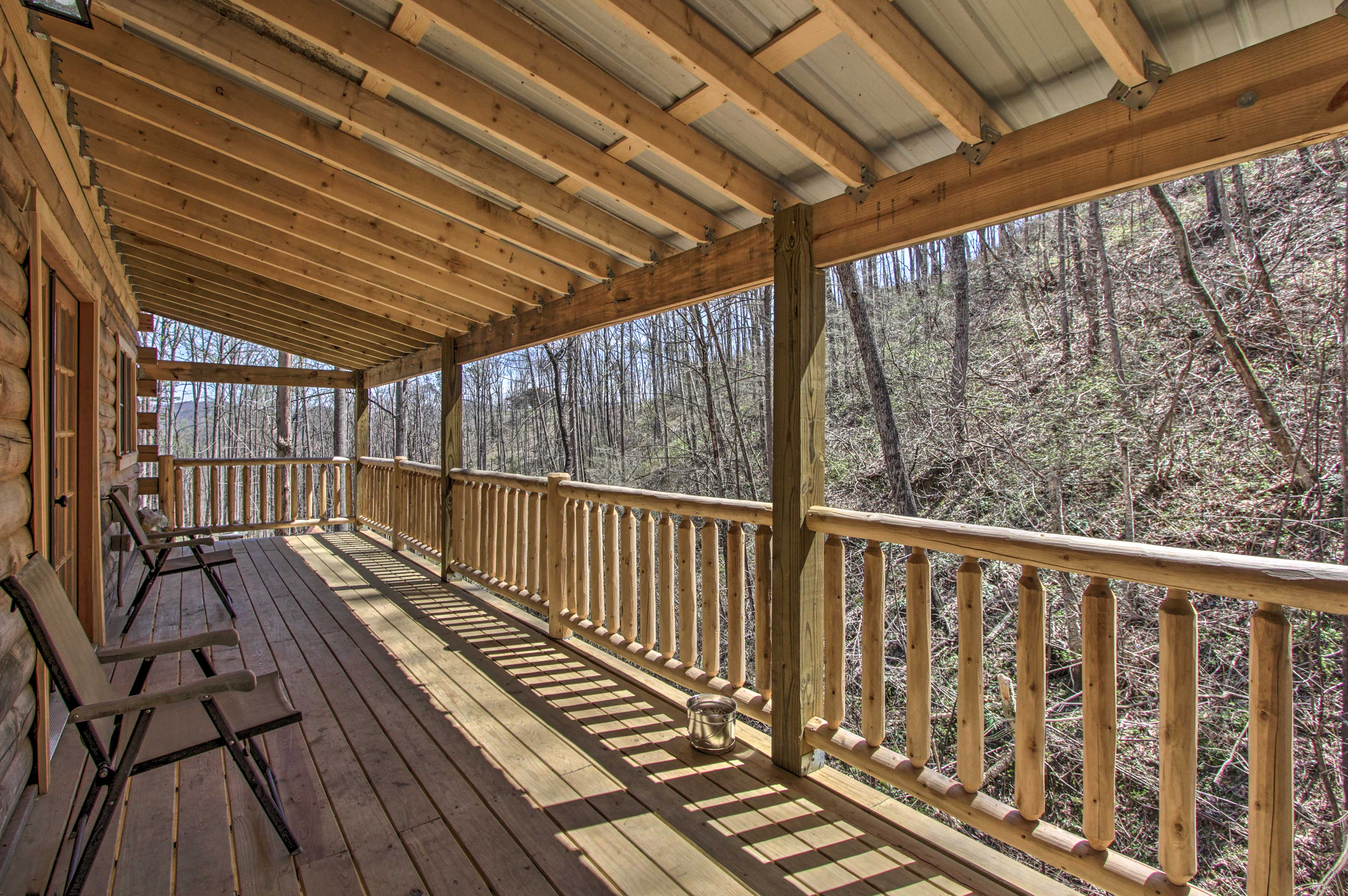 Unwind and enjoy views of the ravine that sit just next to the home.