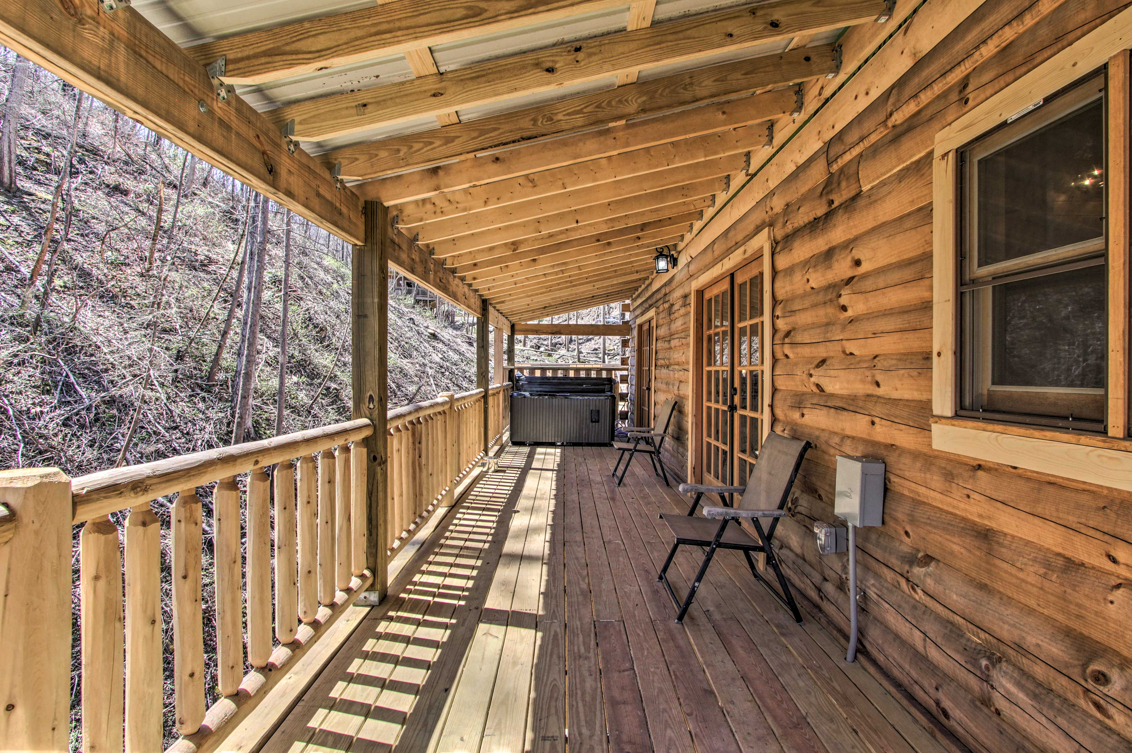 Don't forget to take a breath of the mountain air on the deck.