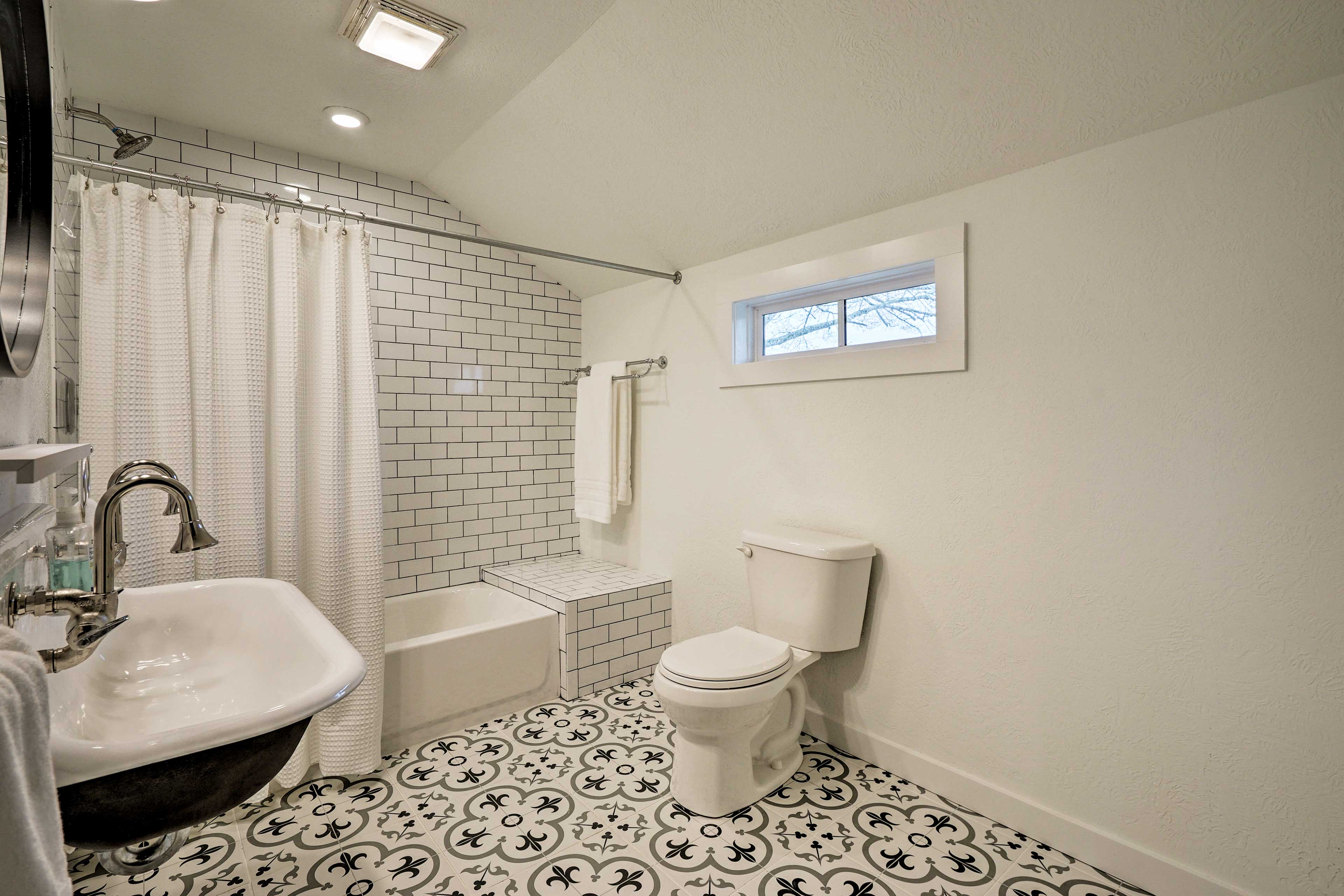 Each bathroom is completely unique and up-to-date!