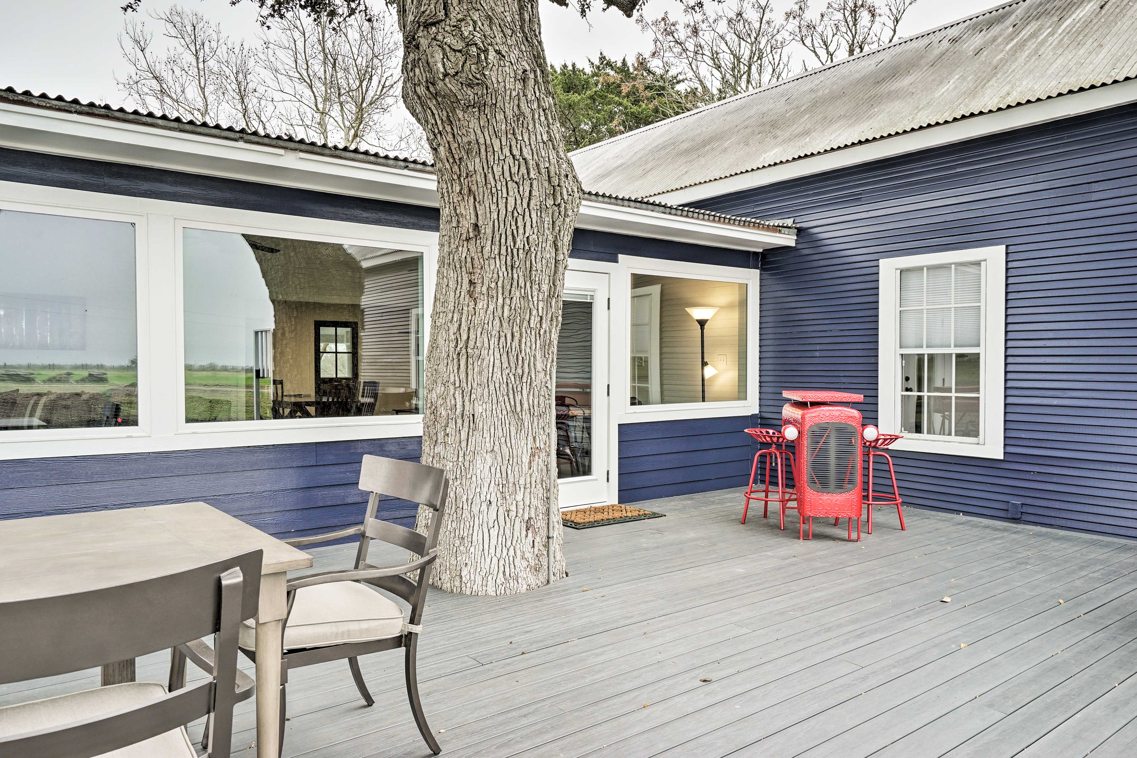 Step outside to enjoy time spent on the large deck!