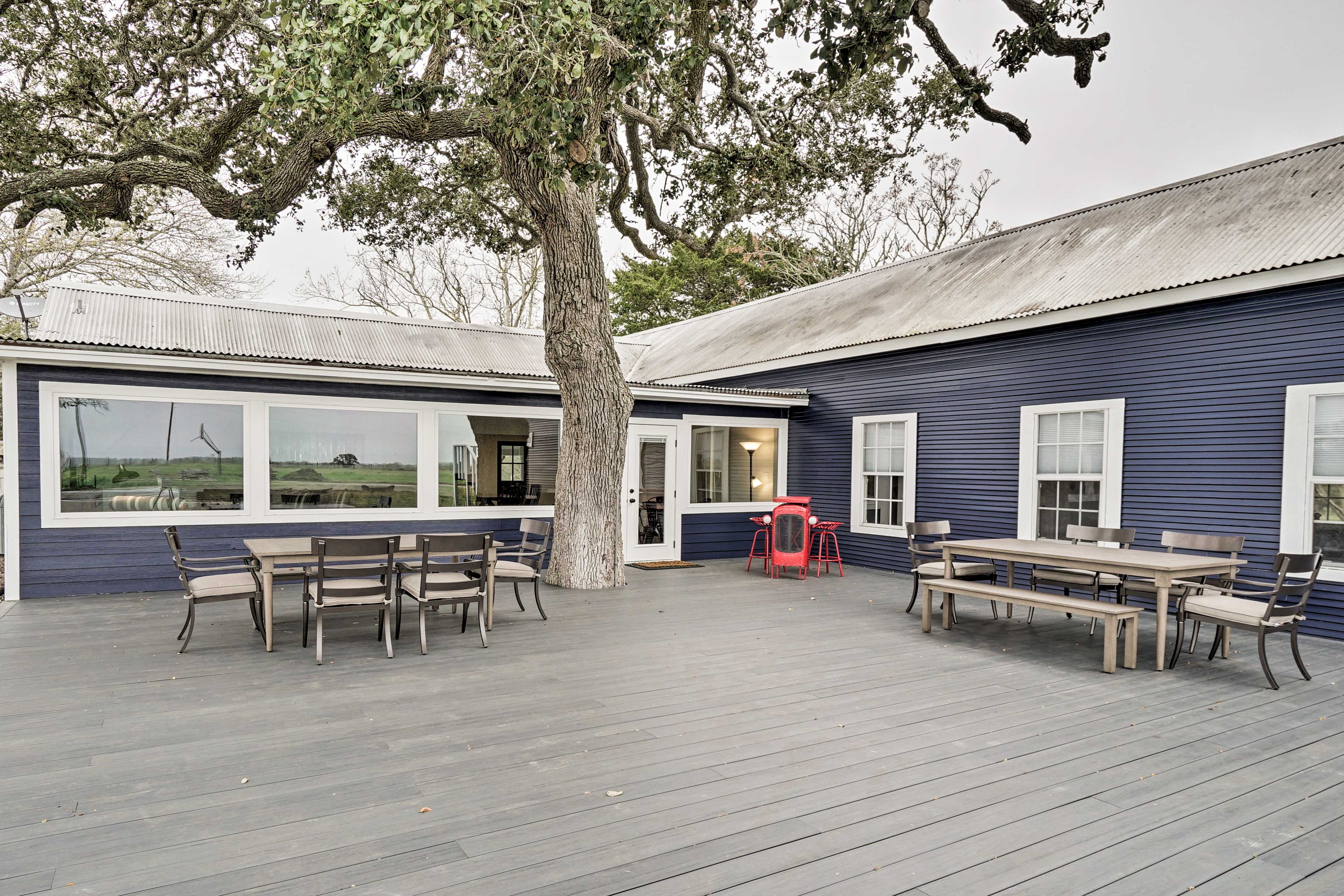 Dine al fresco on the spacious back deck with your loved ones.