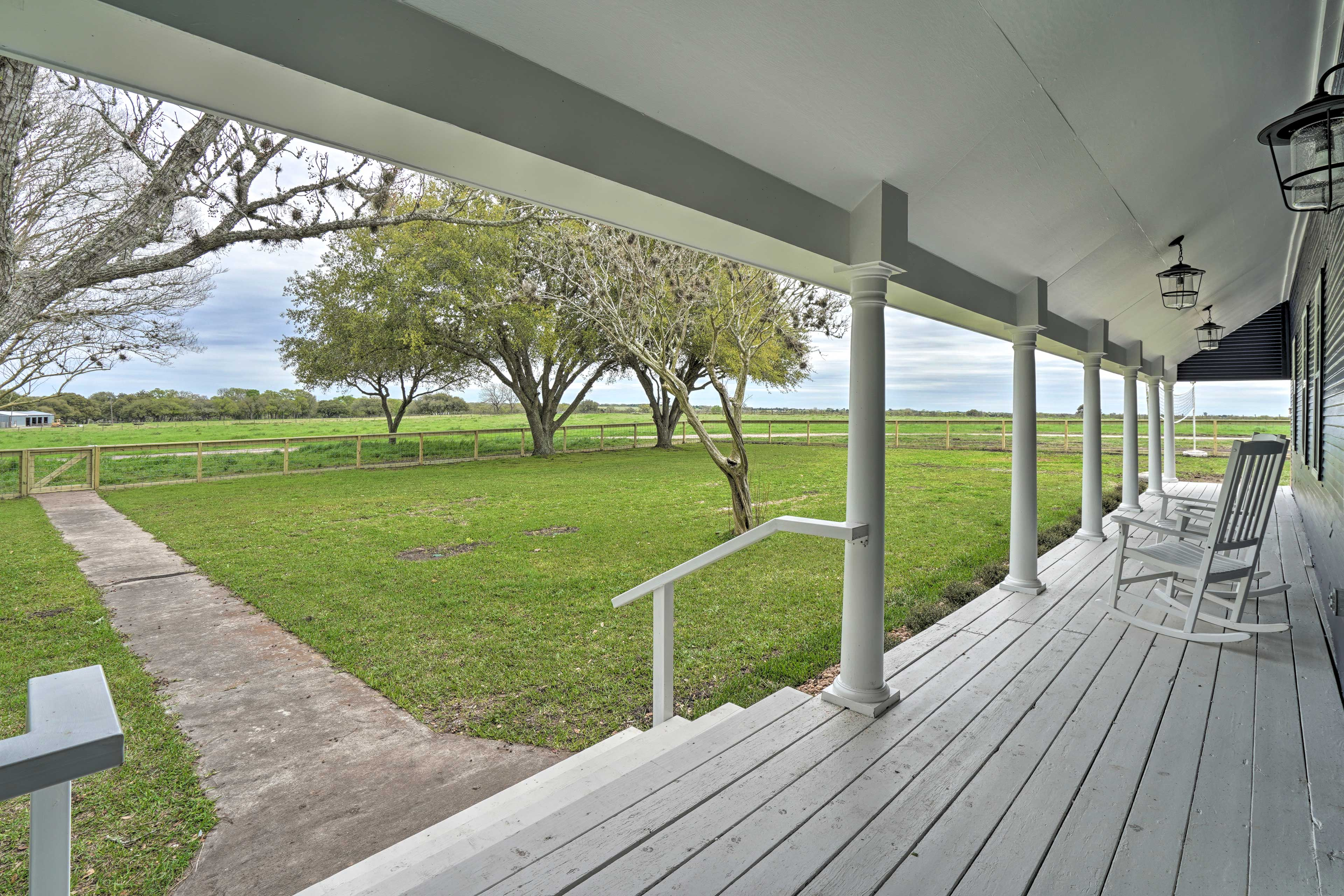 There's no better spot for morning coffee than the covered front porch.