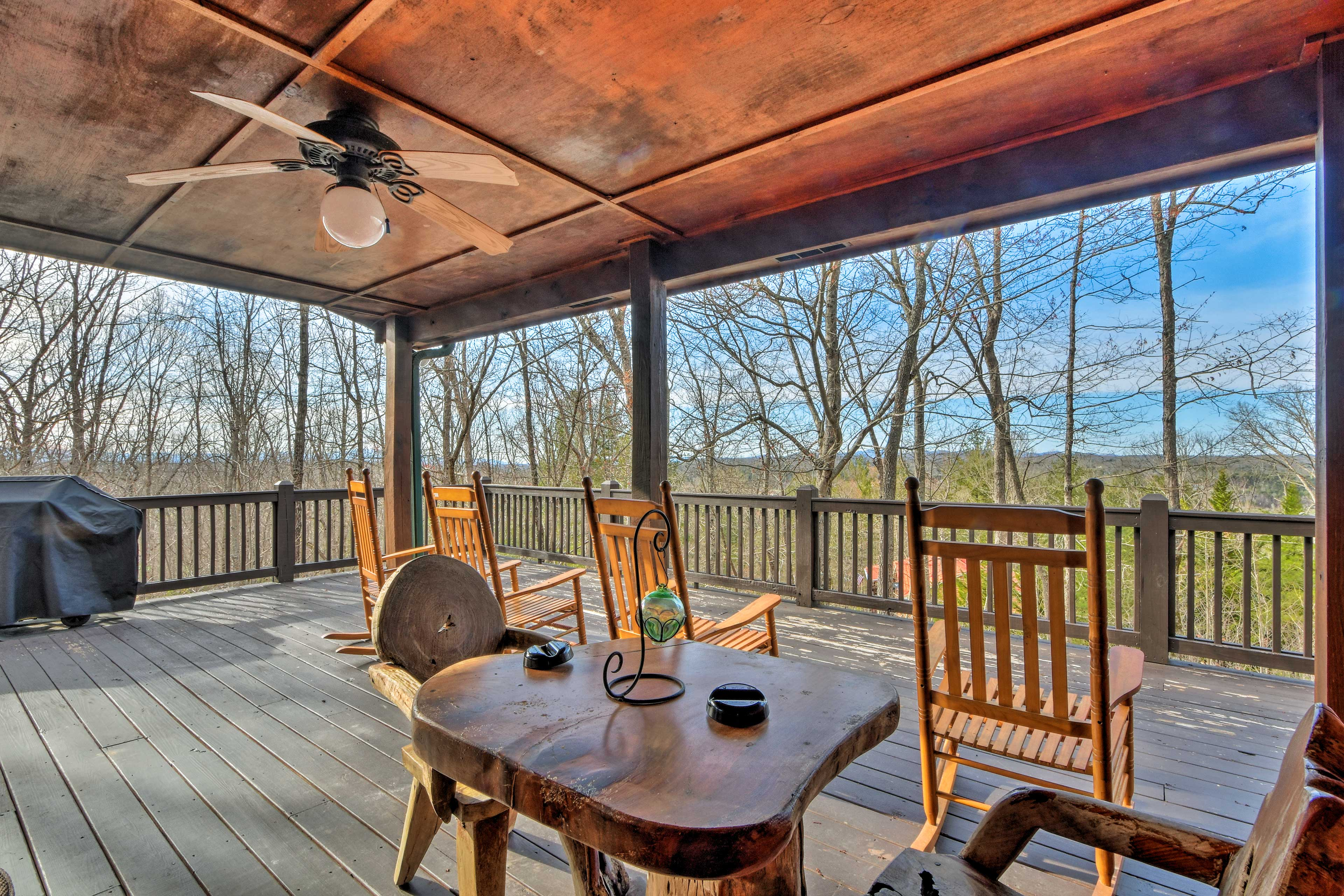 It'll be hard to leave the spacious, covered deck!