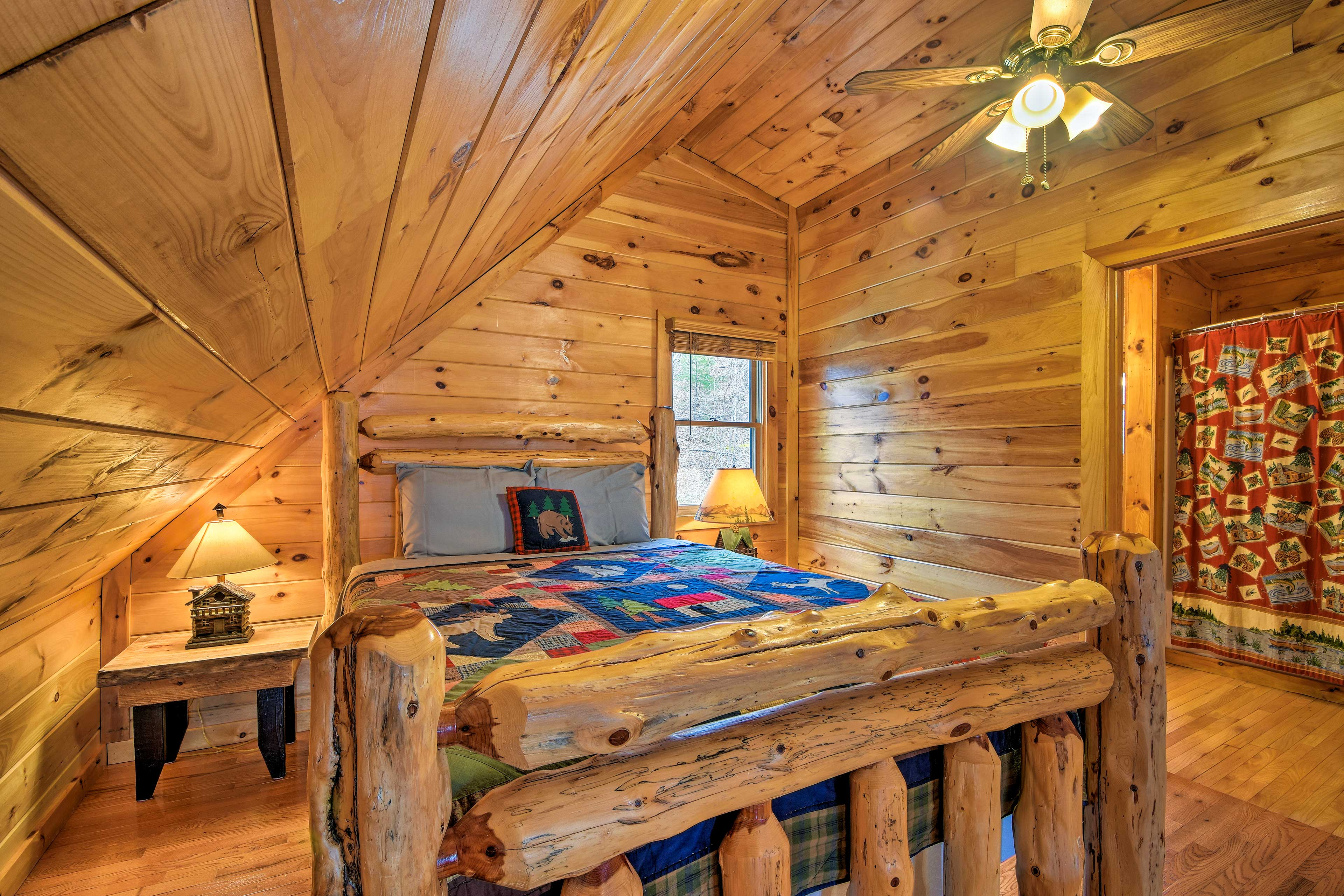 Find a full bed in the loft!