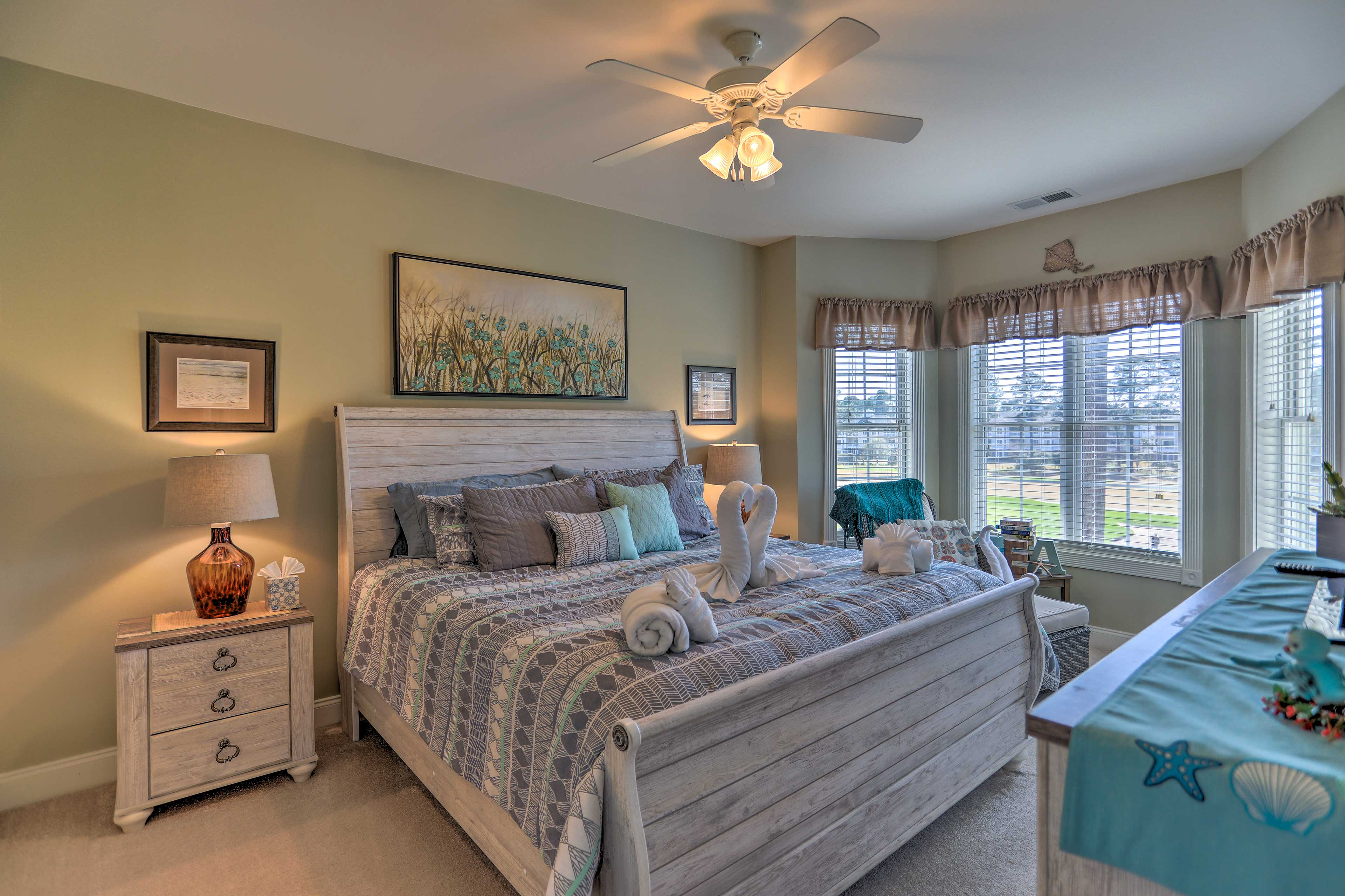 Sleep will come easy in the open and airy master suite.
