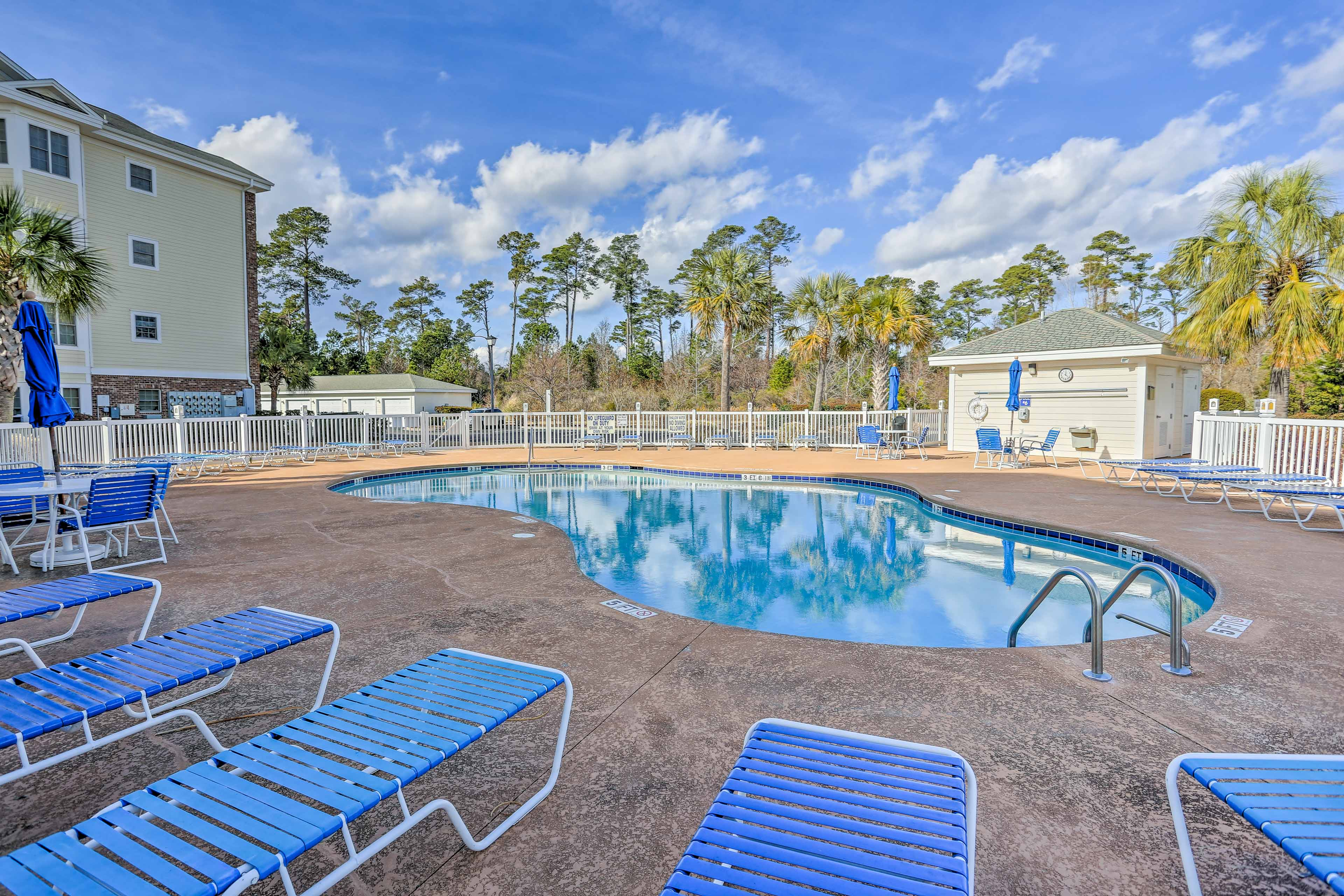 Dive into relaxation in the community pool!