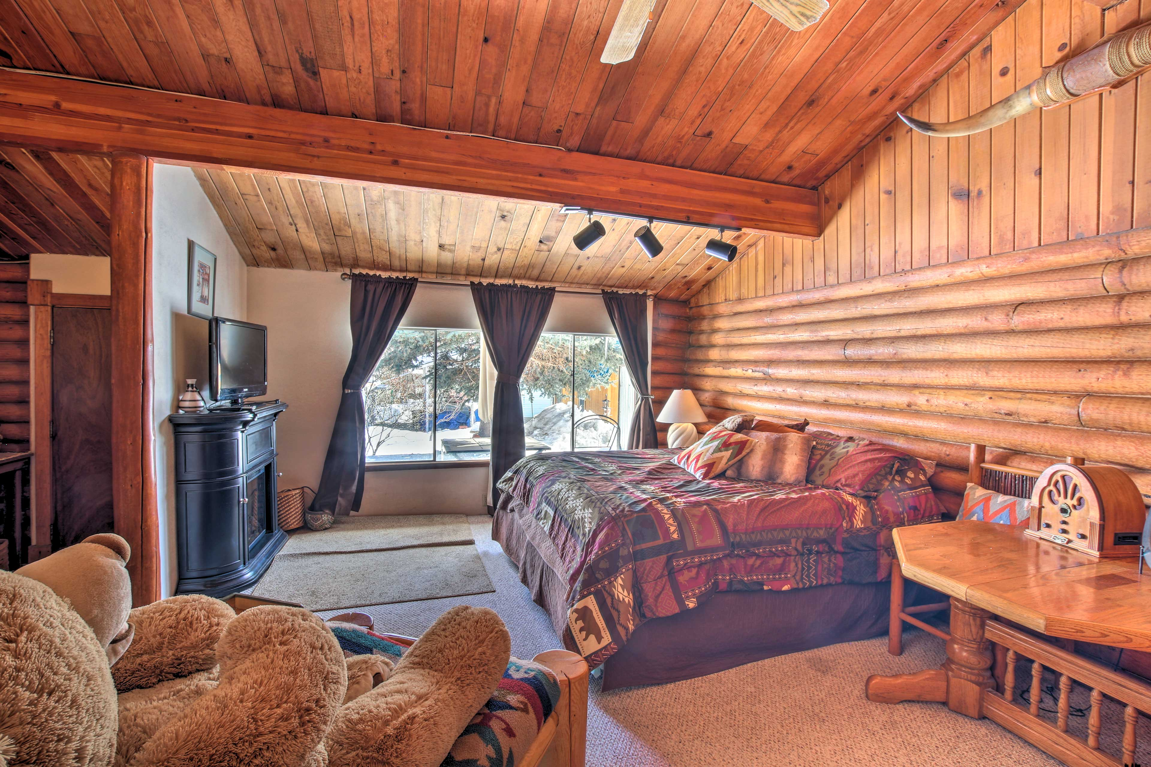 You'll love staying in this spacious bedroom.