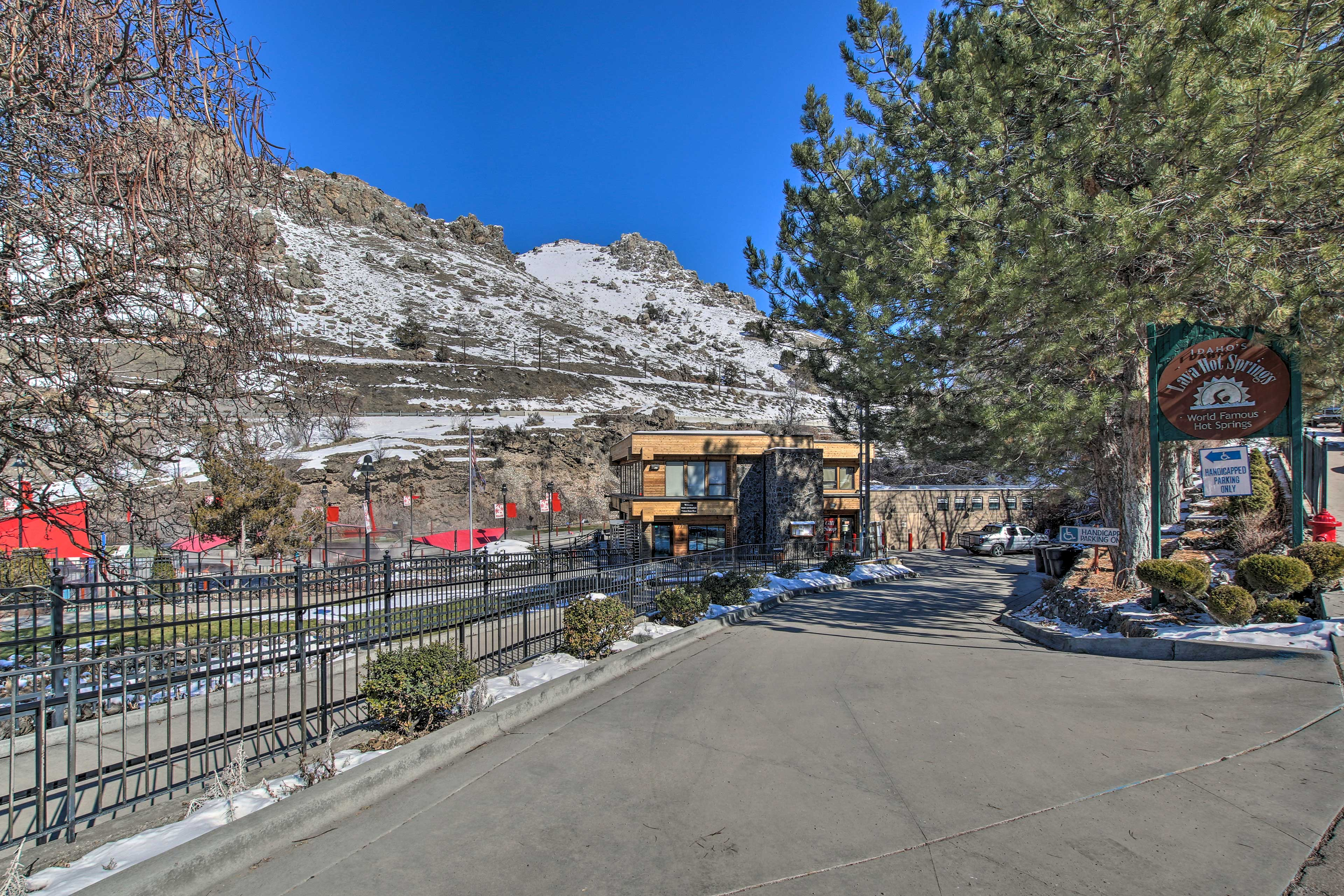 You're within walking distance to the World Famous Hot Springs!
