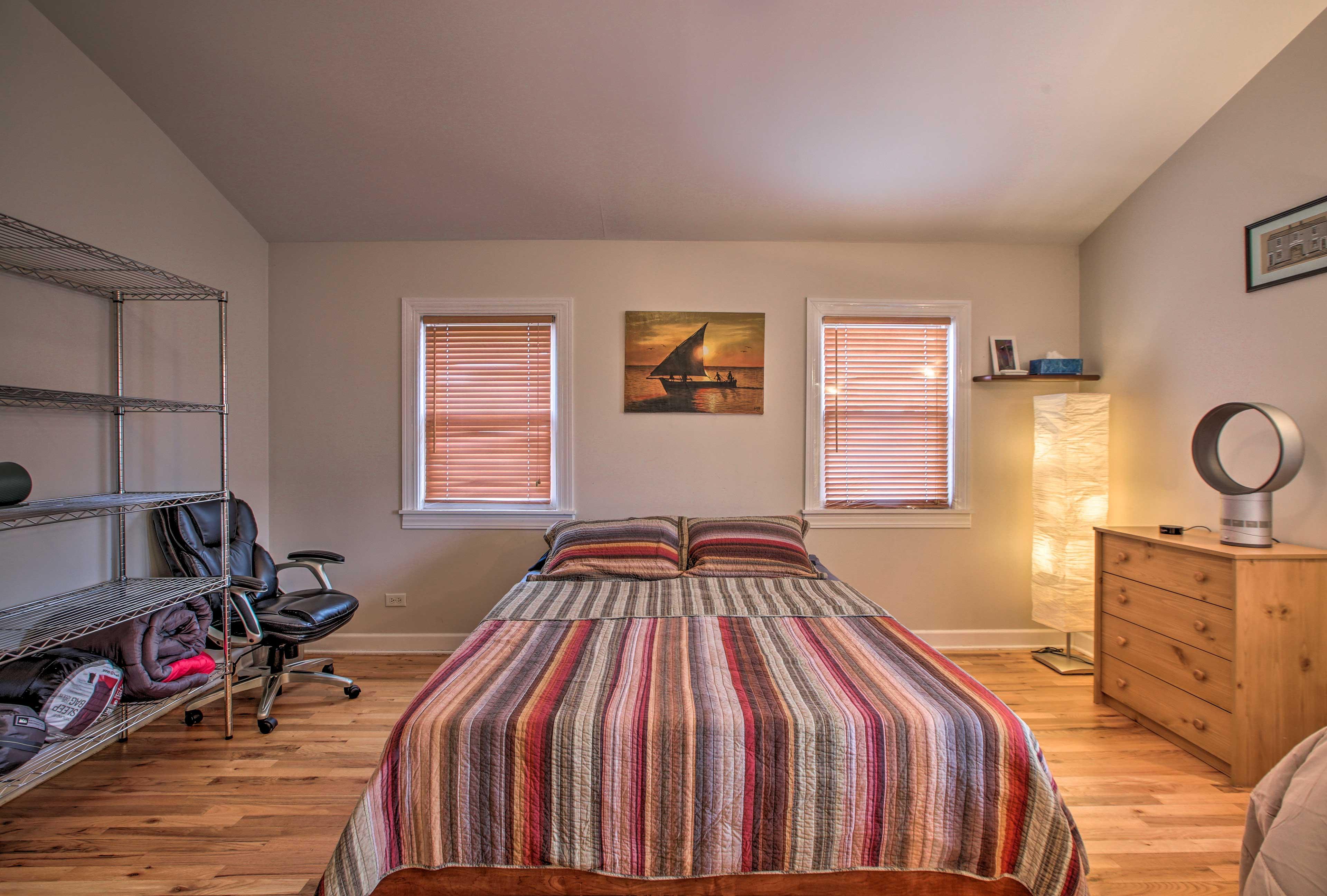 The second bedroom offers 2 queen beds.