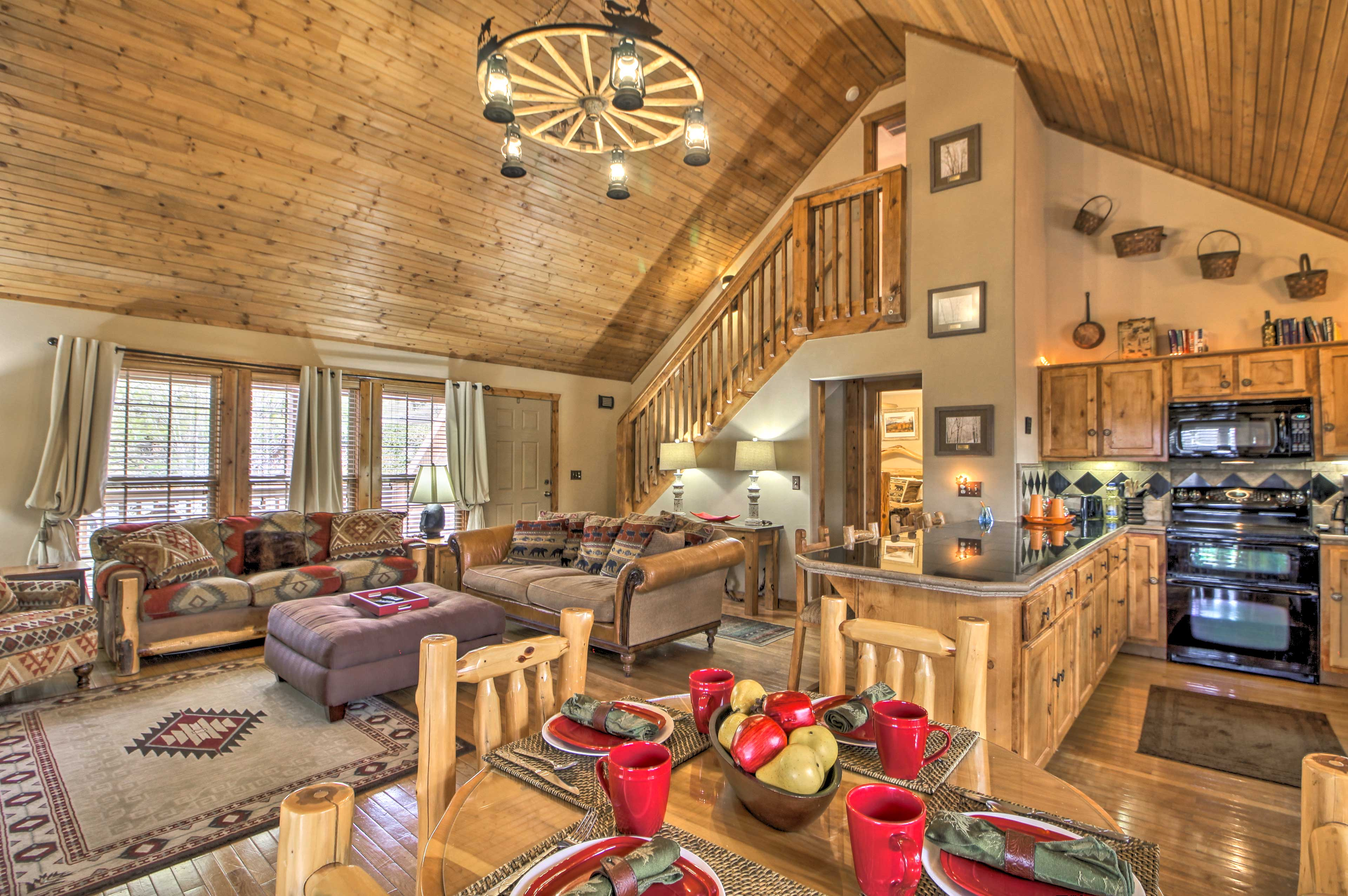 Book a trip to this 4-bedroom, 3-bath vacation rental home in Branson West.