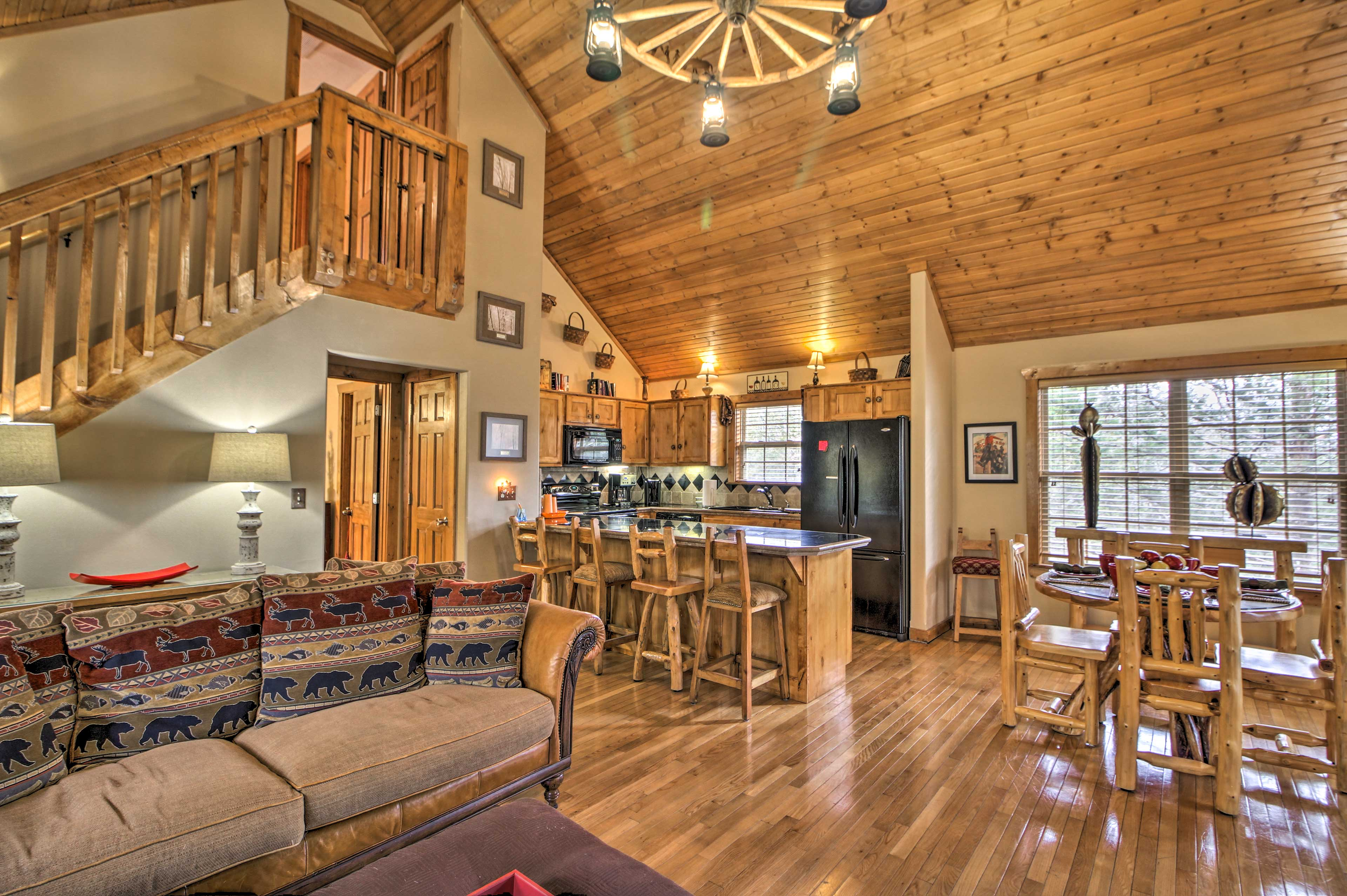 The open floor plan makes the home feel warm and inviting.