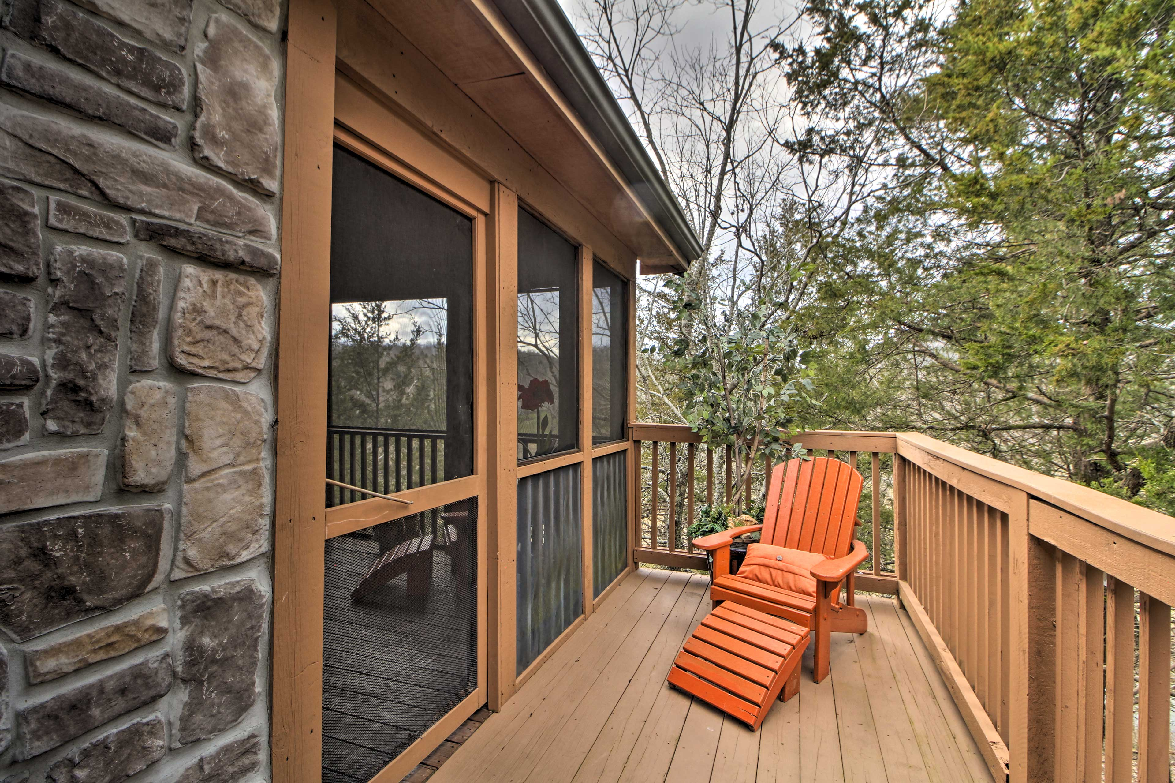 There are several outdoor spaces on the property.