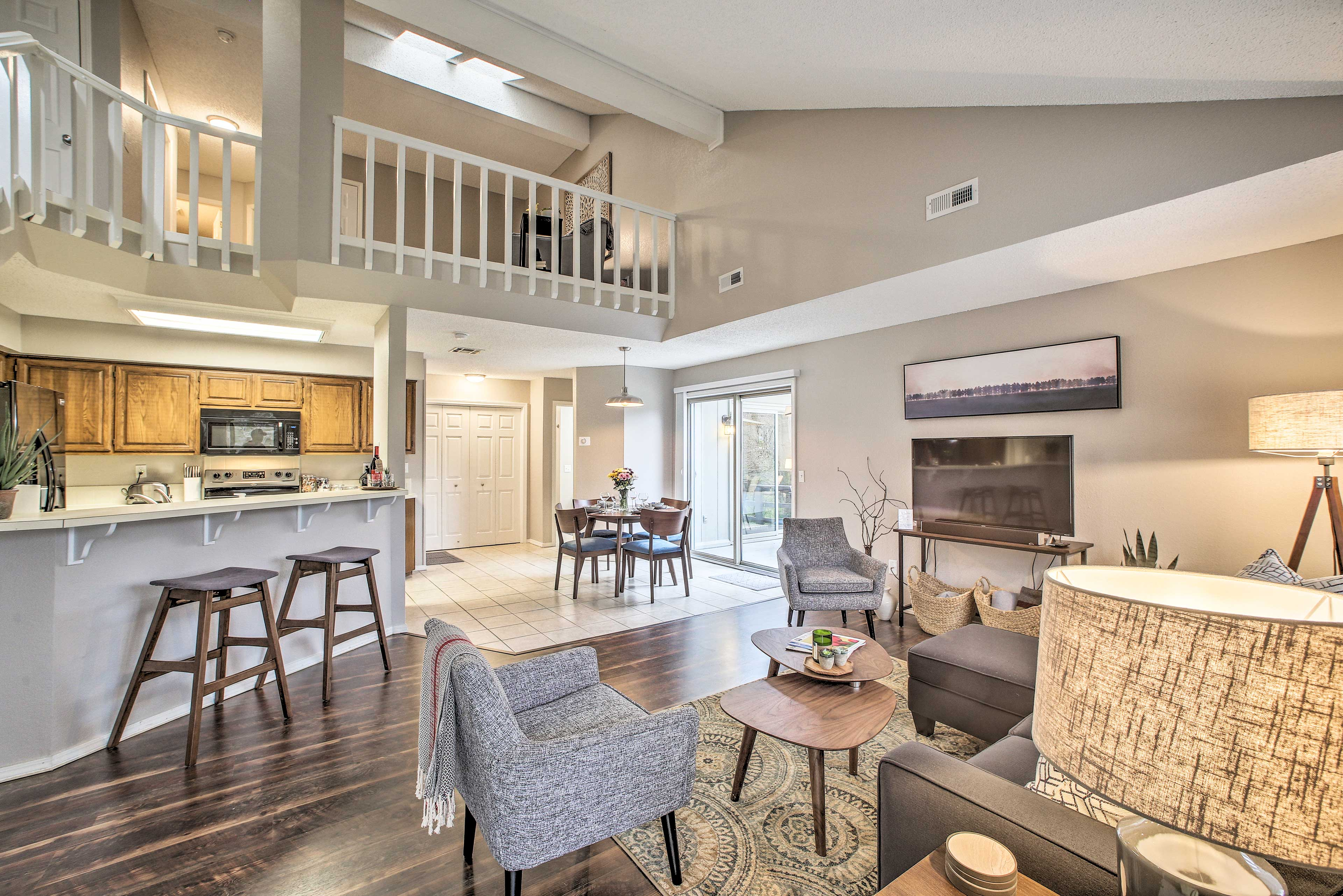 Natural light floods the open-concept layout!