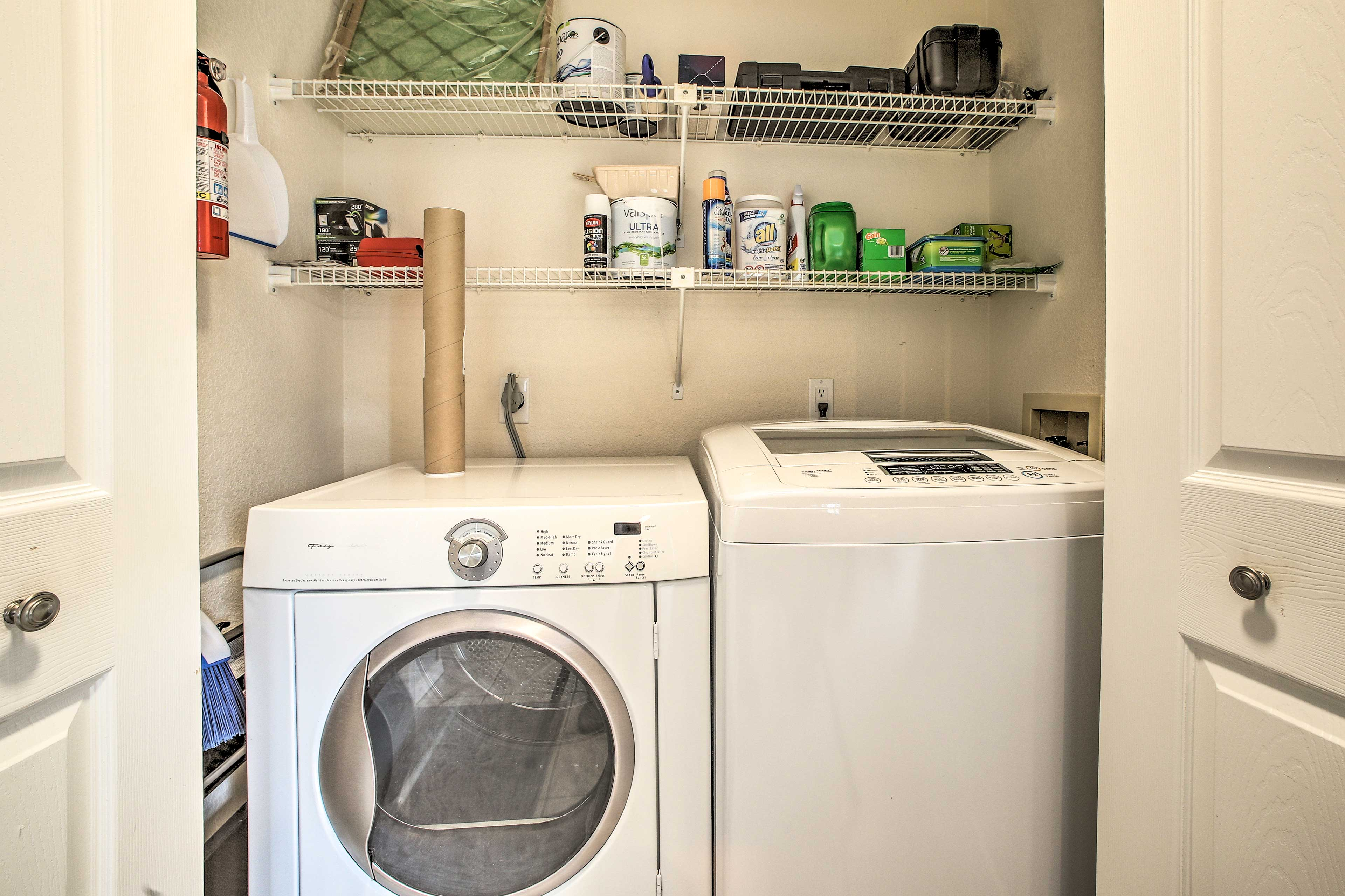 The townhome also features in-unit laundry machines!
