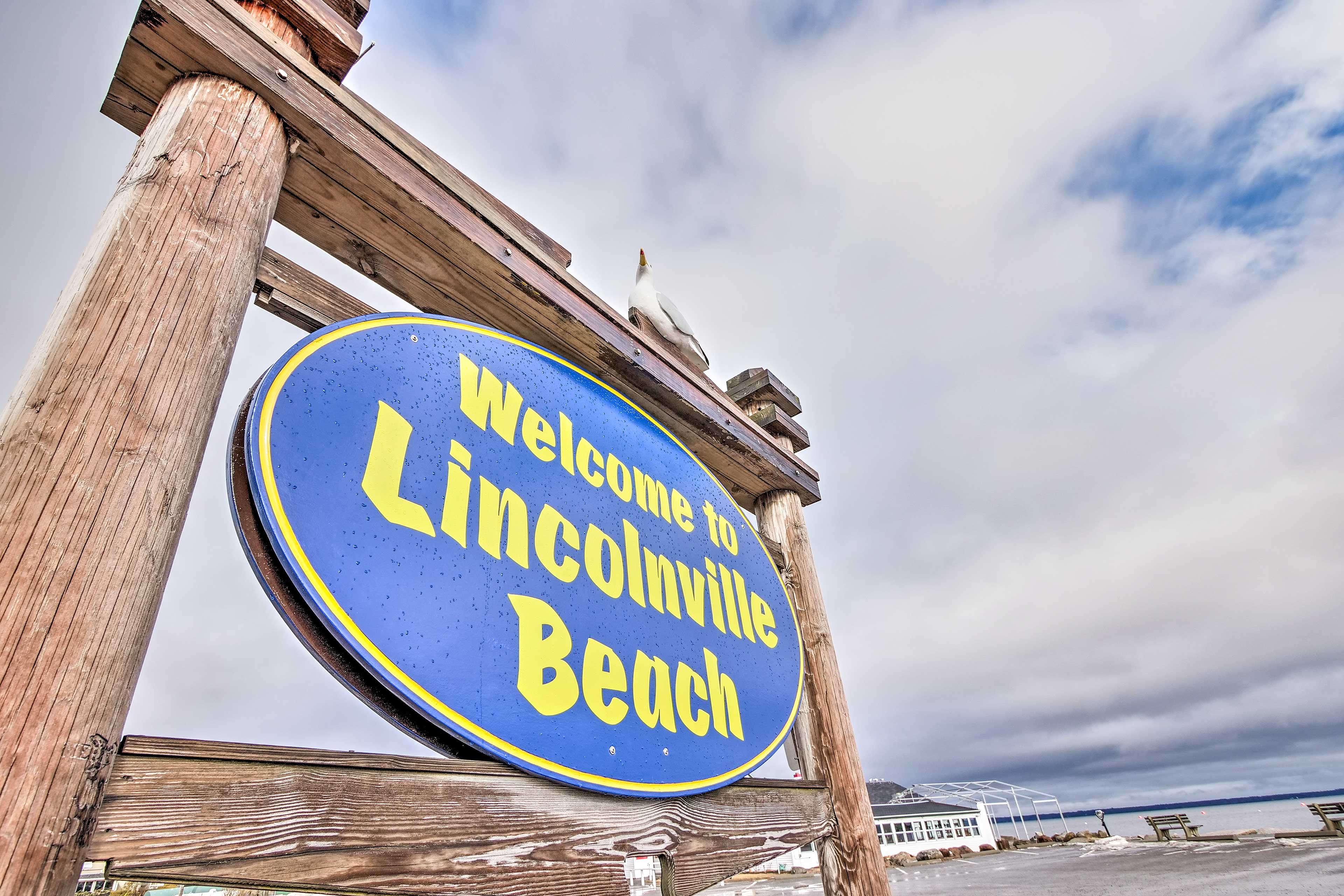 Lincolnville Beach is a stone's throw away.