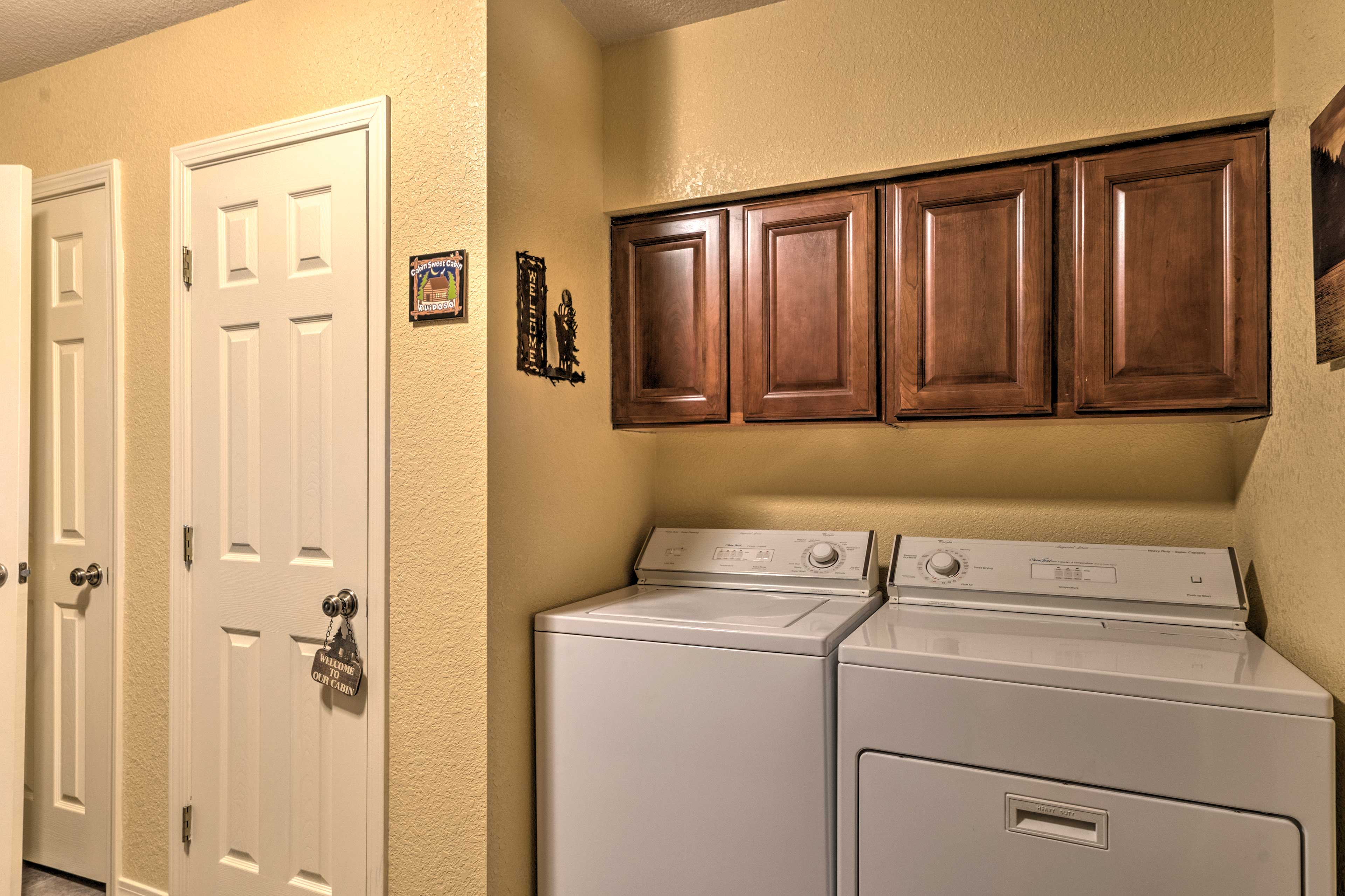 Keep all your mountain gear fresh in the in-unit laundry machines.
