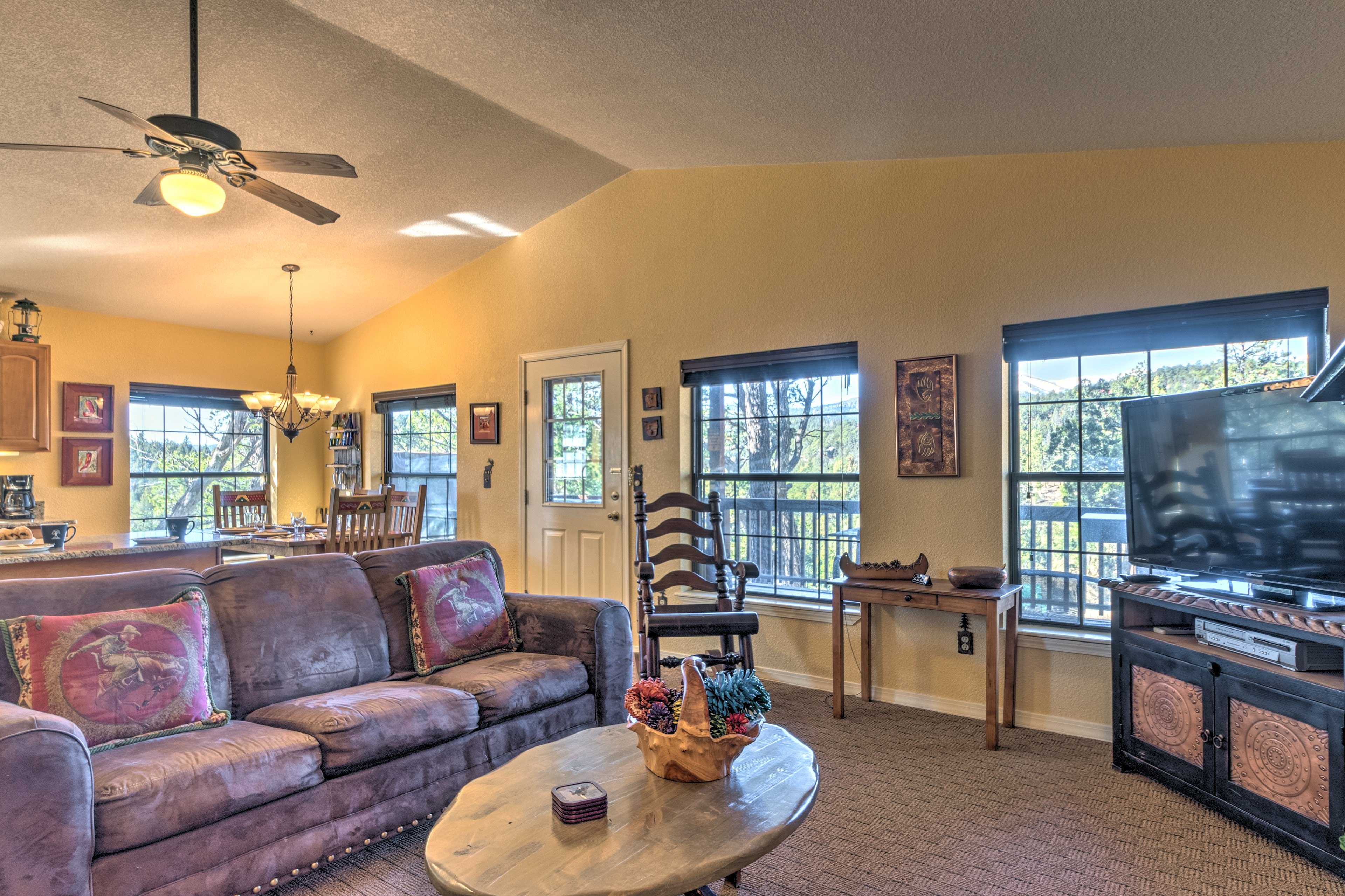 Comfortable furnishings and modern amenities can be found throughout.
