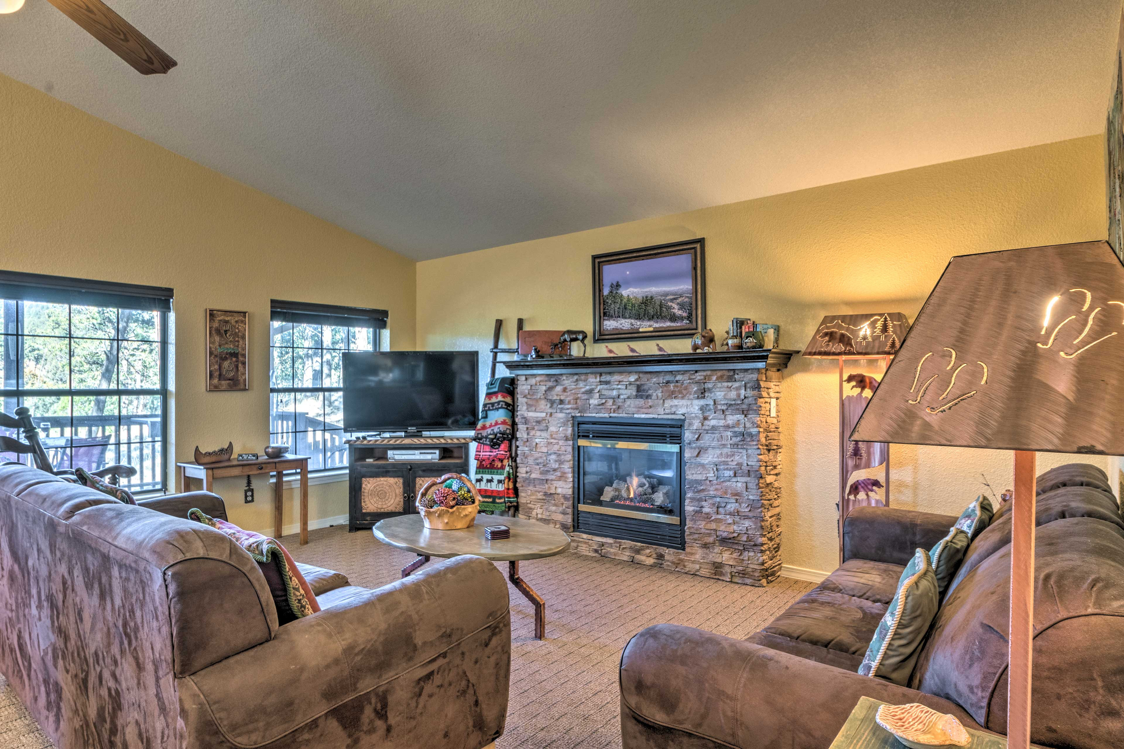 Make the most of your New Mexico getaway at this 2-BR, 1.5-BA vacation rental.