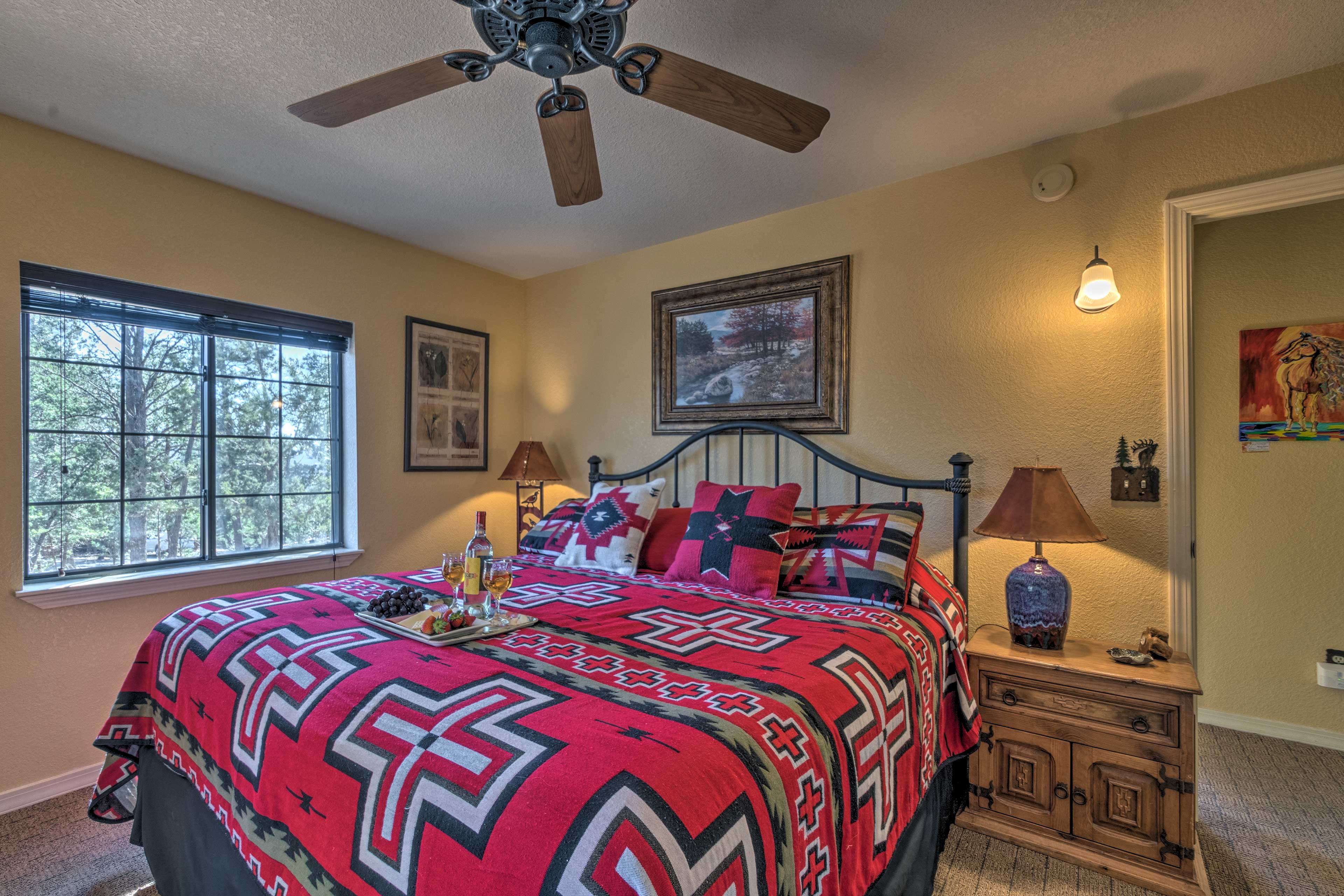 Both bedrooms boast comfortable king beds.