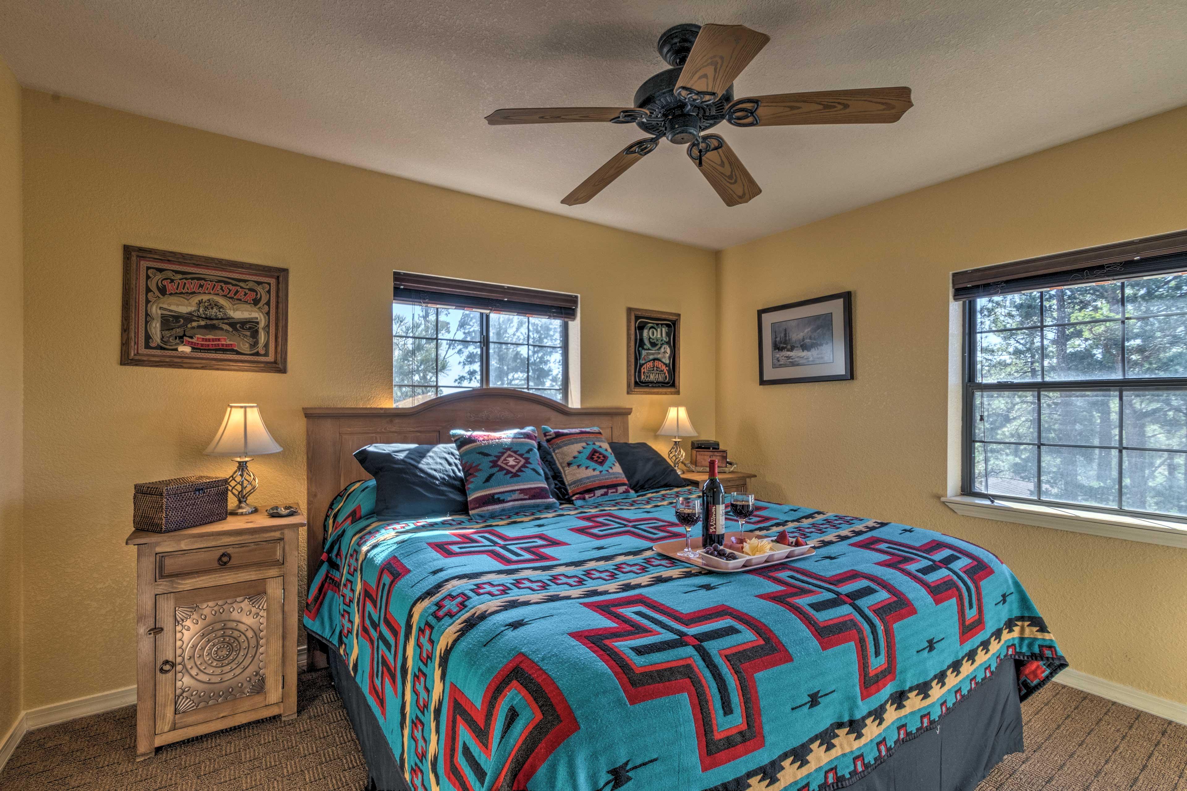 Nights of peaceful sleep await in bedroom 2.