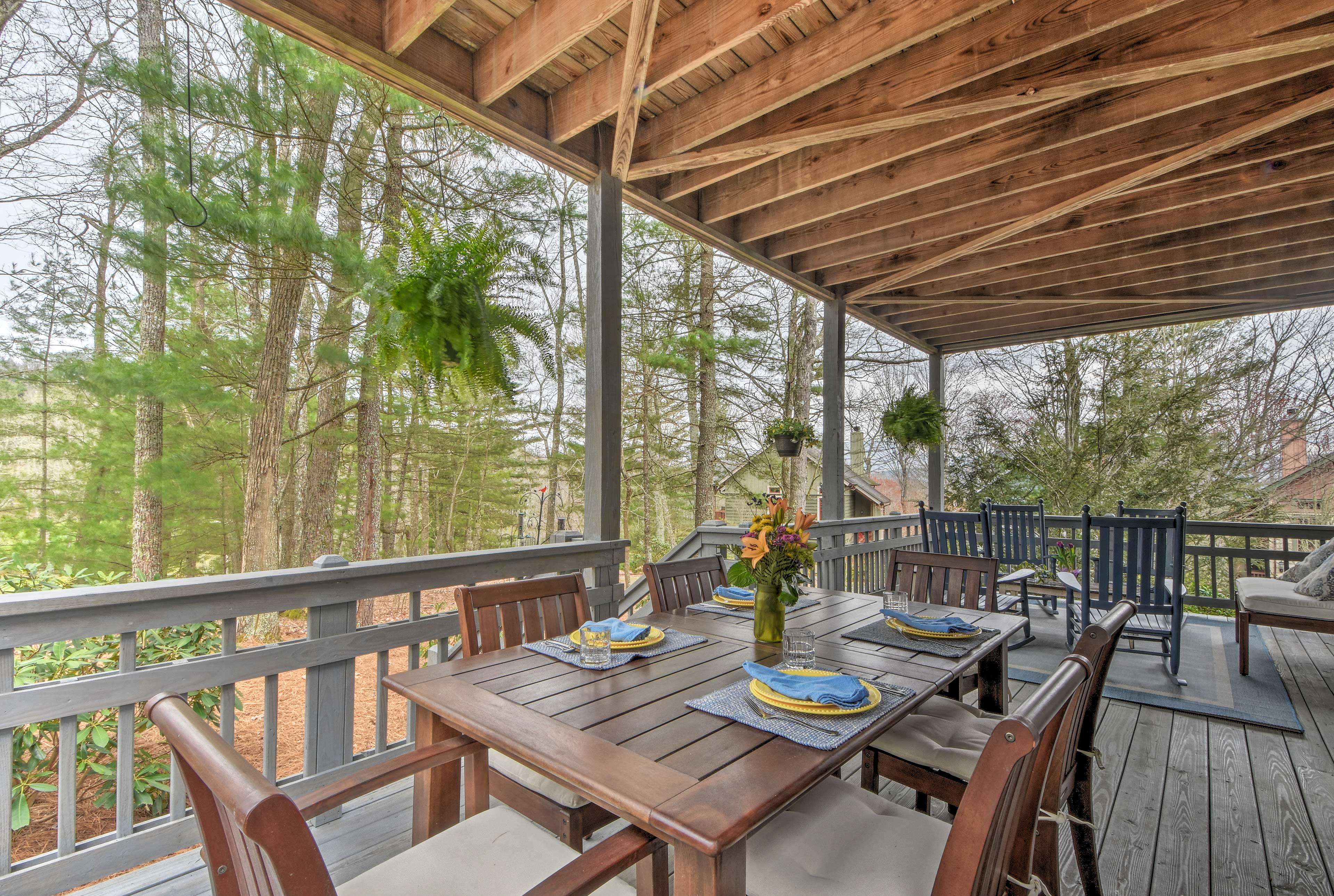 Covered Deck | Golf Course Views