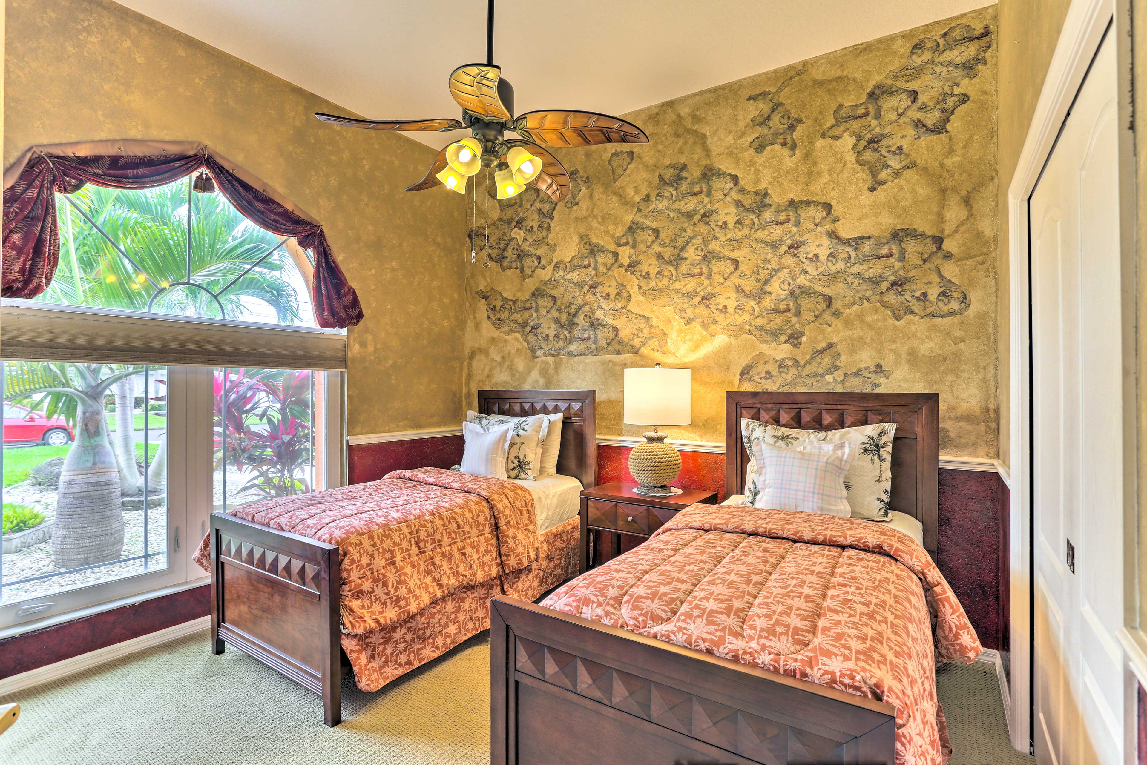 Drift into a peaceful sleep in one of the 2 twin beds.