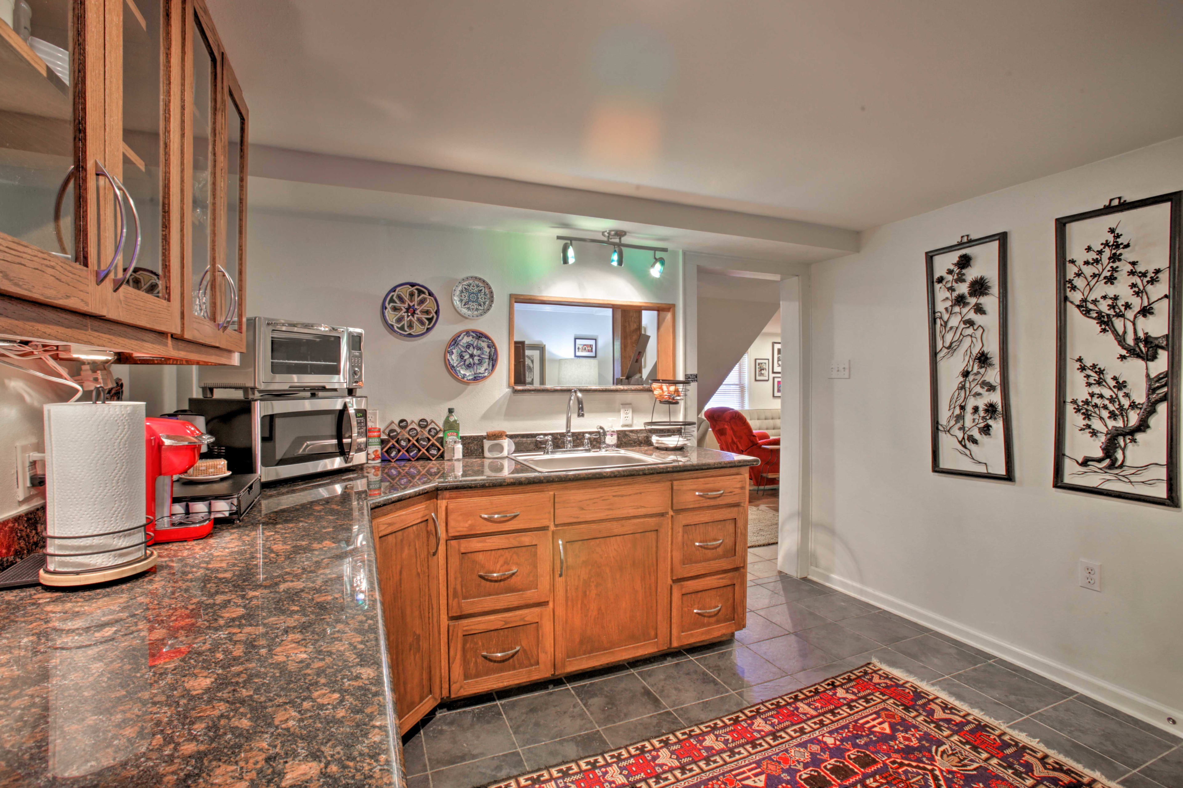 This open layout is perfect for close friends of family.