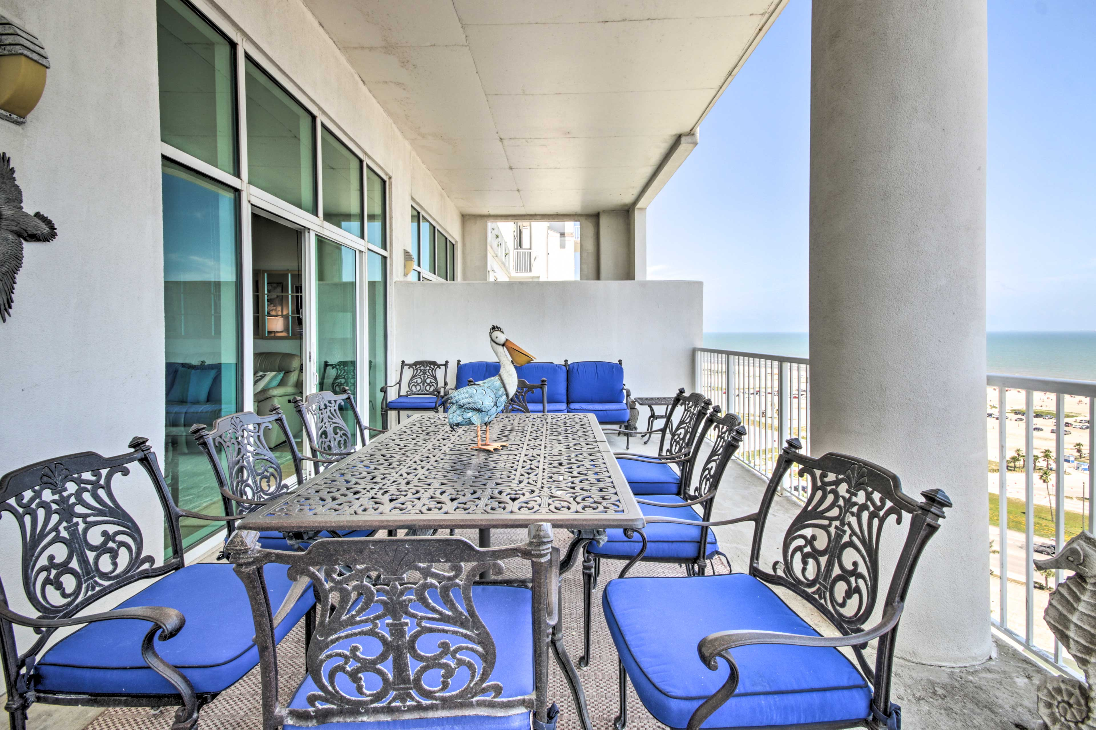 Step onto the spacious private balcony and soak in the ocean views!