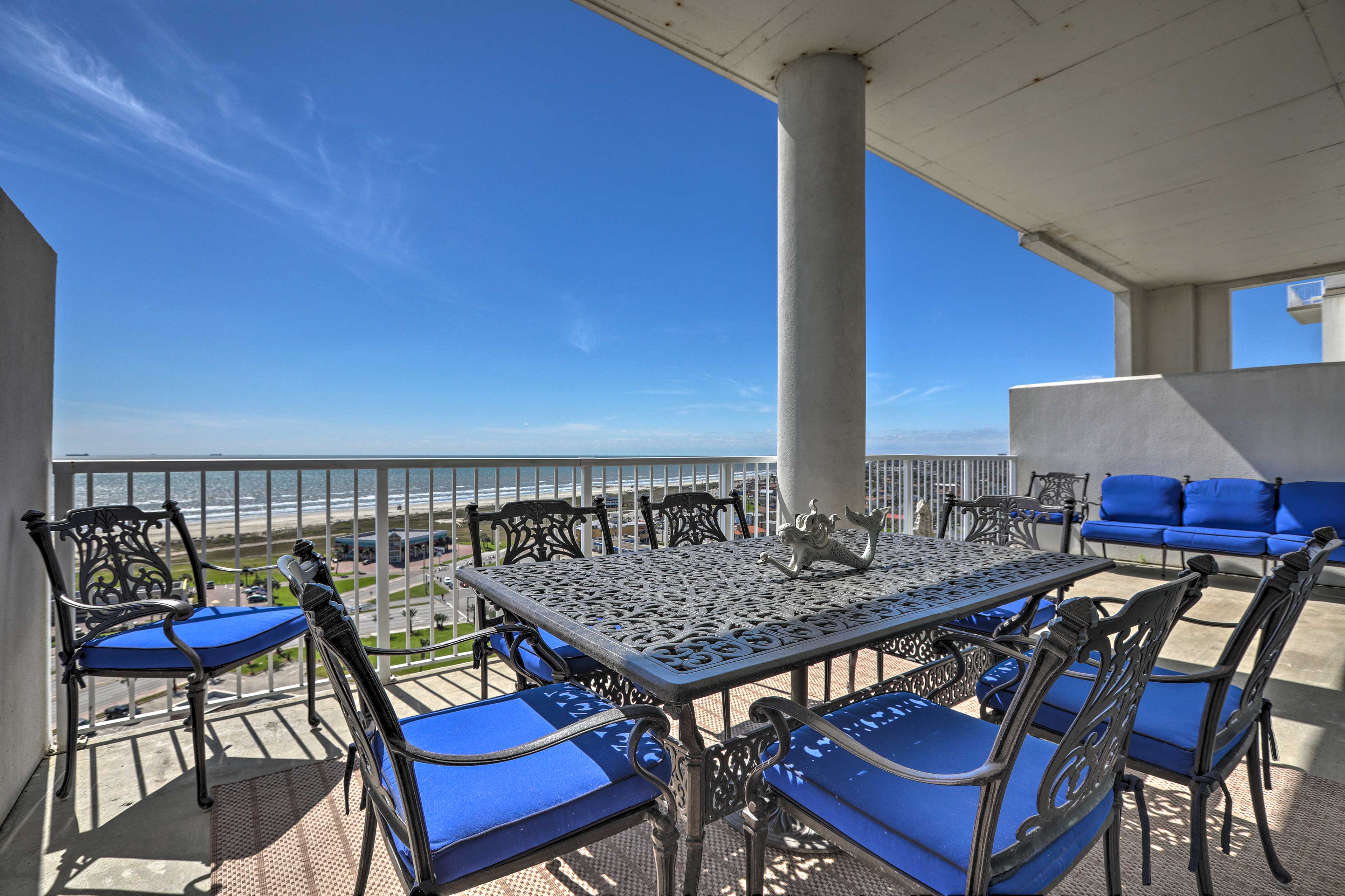 Escape to this beautiful 3-bedroom, 2-bathroom vacation rental home on the Gulf!