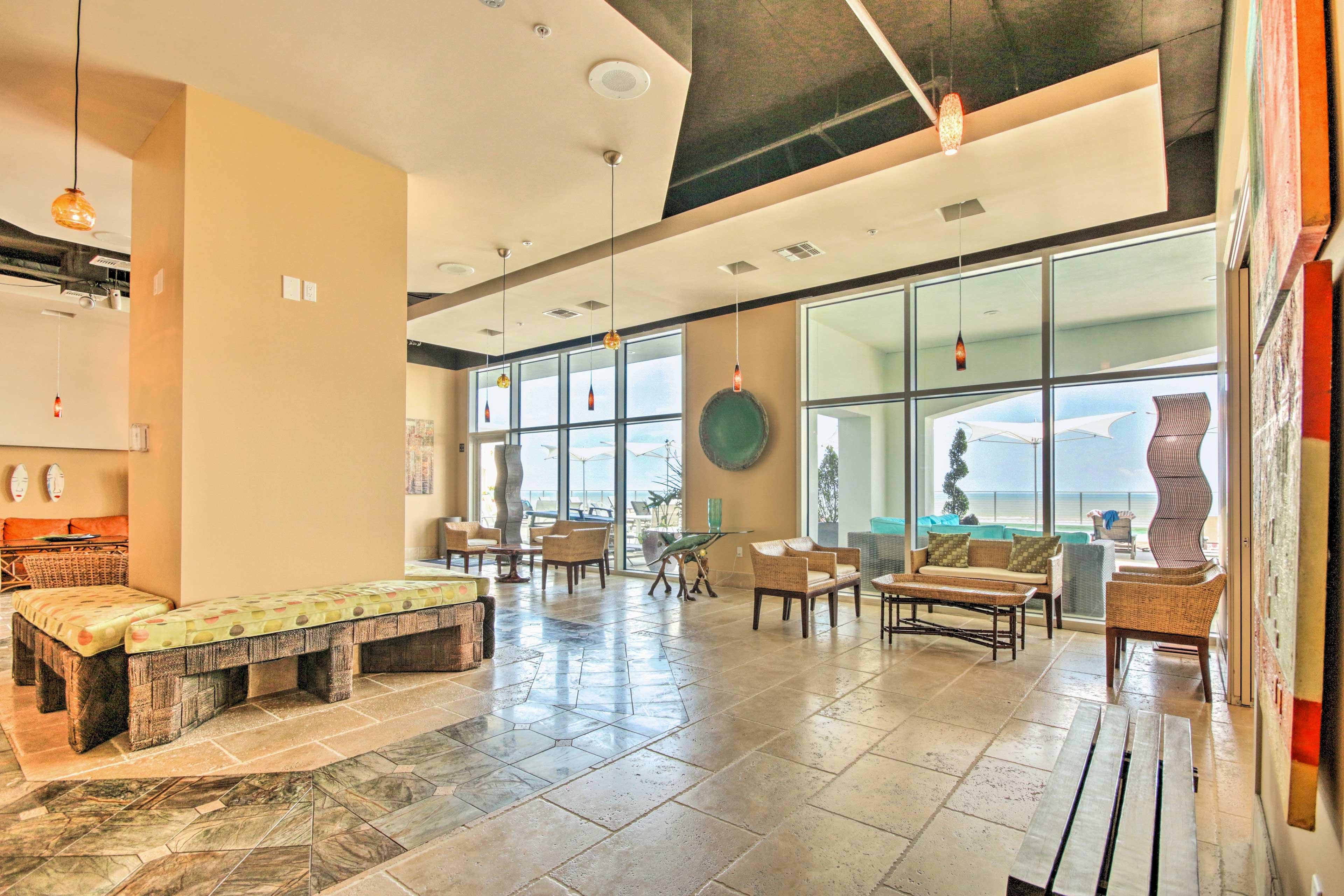 You'll love walking through the high-end lobby.